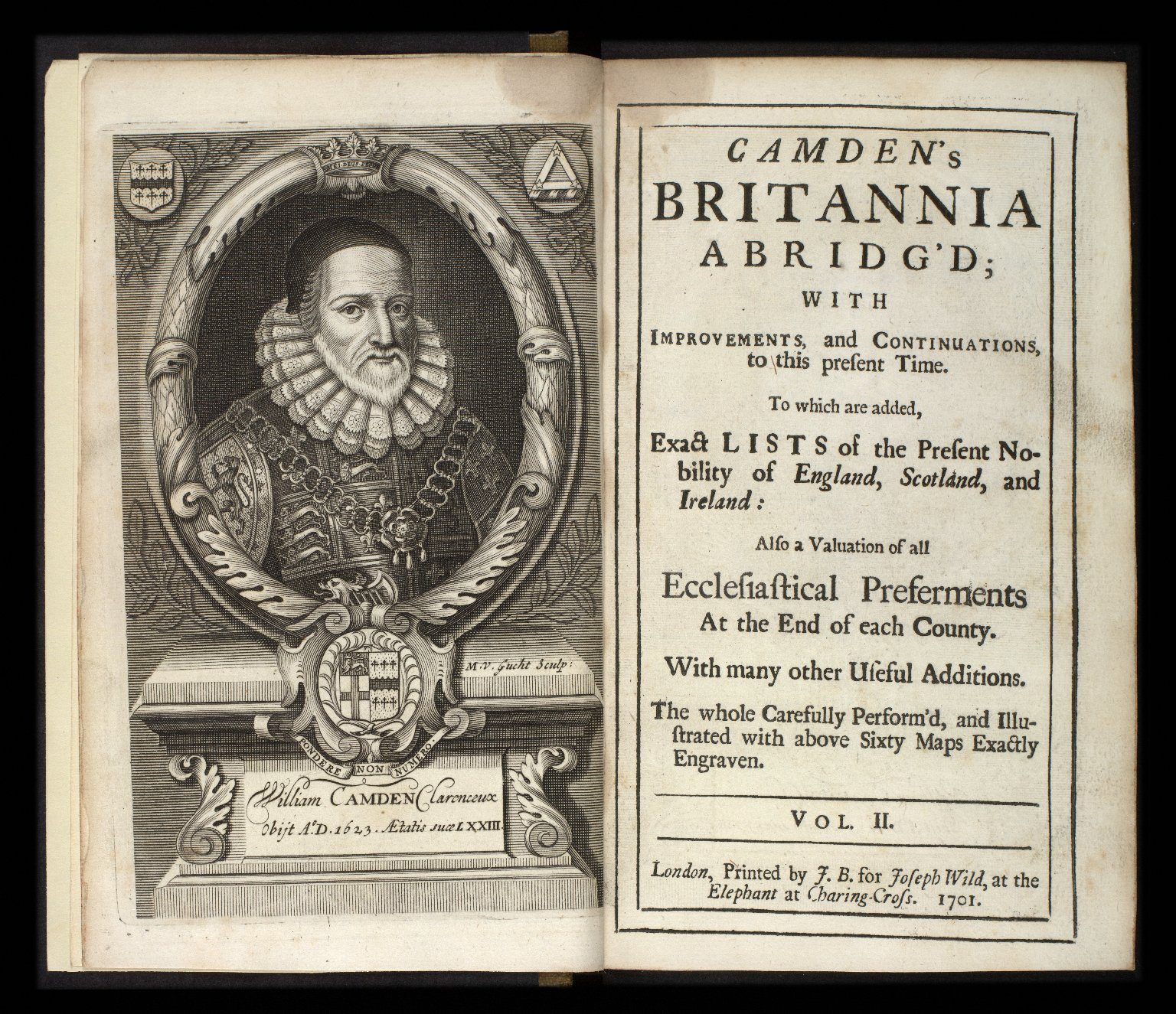 Camden's Britannia abridg'd ... illustrated with above sixty maps exactly engraven. [1 of 1]