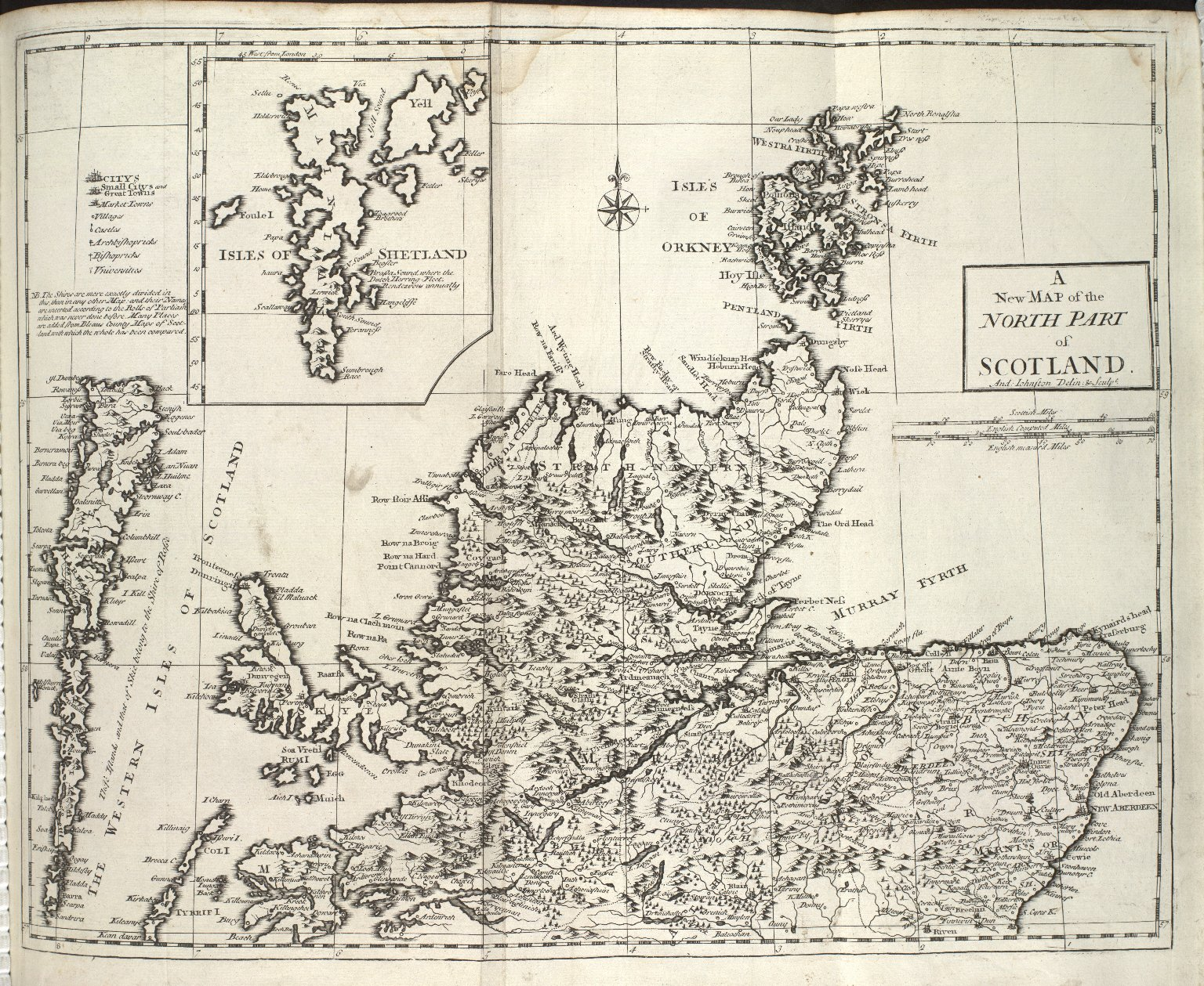 A / New Map of the / North Part / of / Scotland. [1 of 1]