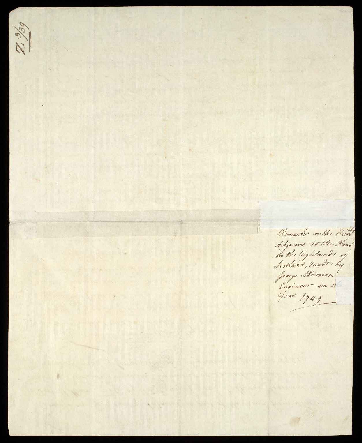 Remarks on the Country Adjacent to part of the Road from Sterling to Fort William, made by the Party of Genl. Pultneys Regement, from part of Loch Lubinich to the beginning of Larigilay. Eight Miles and Forty five Yards [2 of 2]