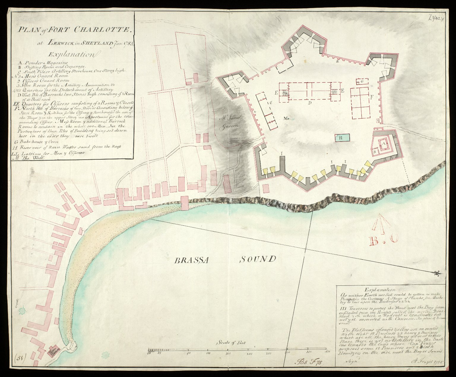 Plan of Fort Charlotte at Lerwick in Shetland Jan. 1783 [copy] [1 of 1]