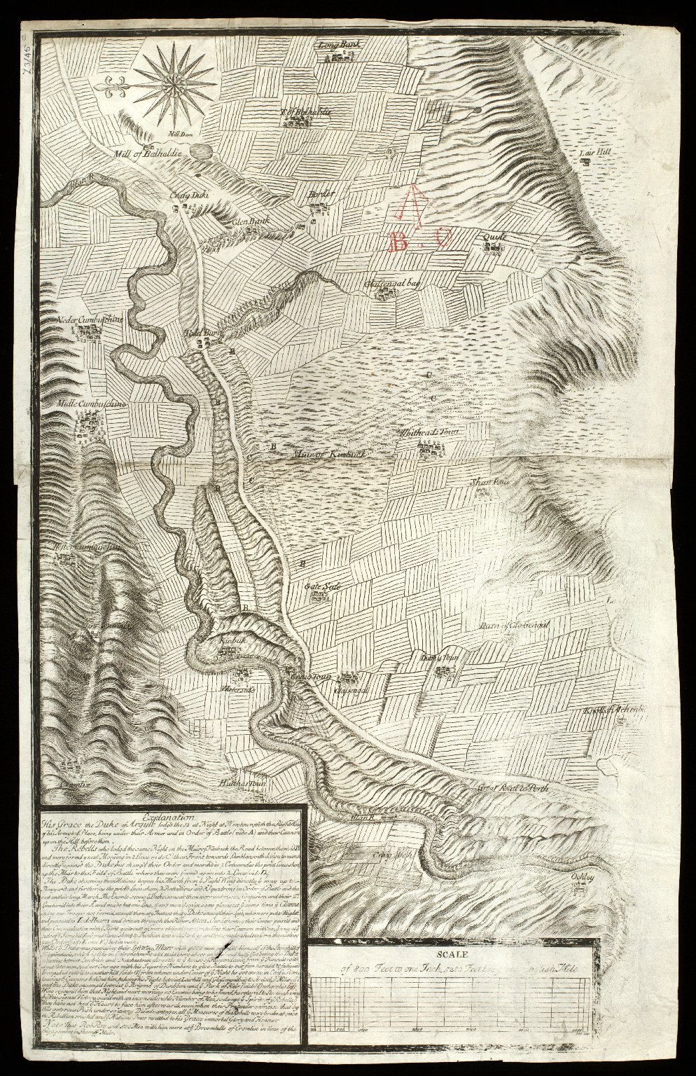 [Plan of the Battle of Sheriffmuir, fought 13 November 1715] [copy] [1 of 1]