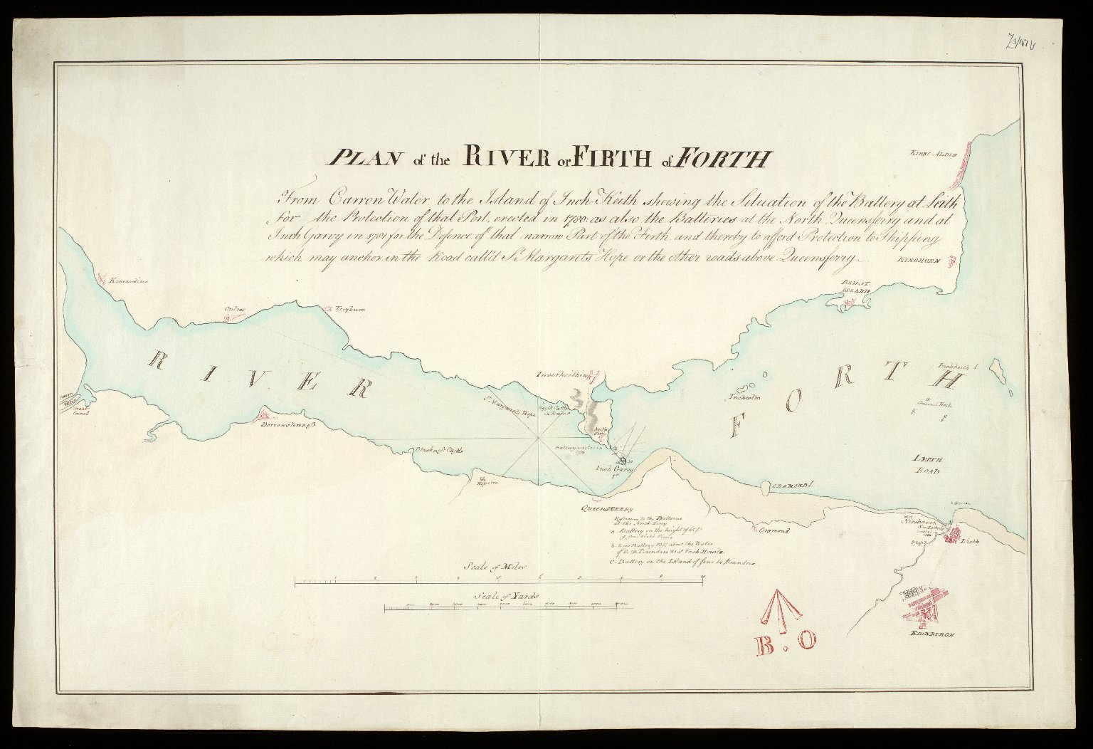Plan of the River or Firth of Forth [1782] [copy] [1 of 1]
