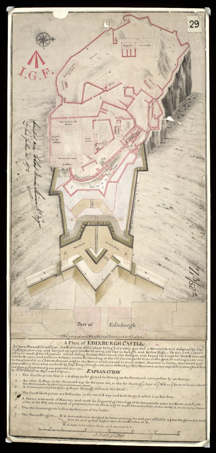 A Plan of Edinburgh Castle [1 of 1]