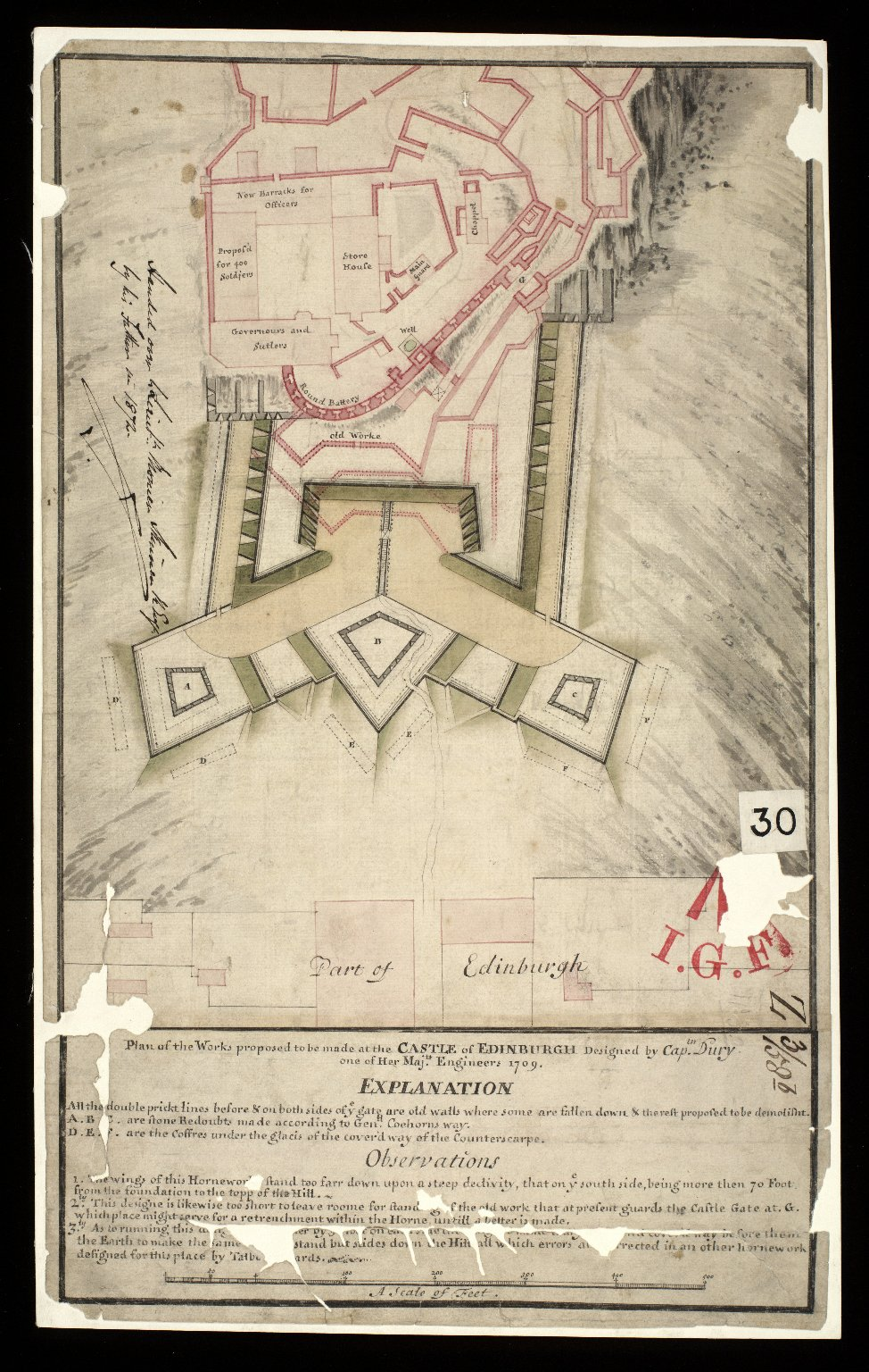 Plan of the works proposed to be made at the castle of Edinburgh [1 of 1]