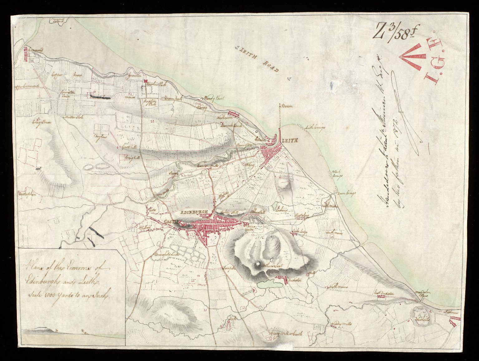 Plans of the environs of Edinburgh & Leith [1 of 1]
