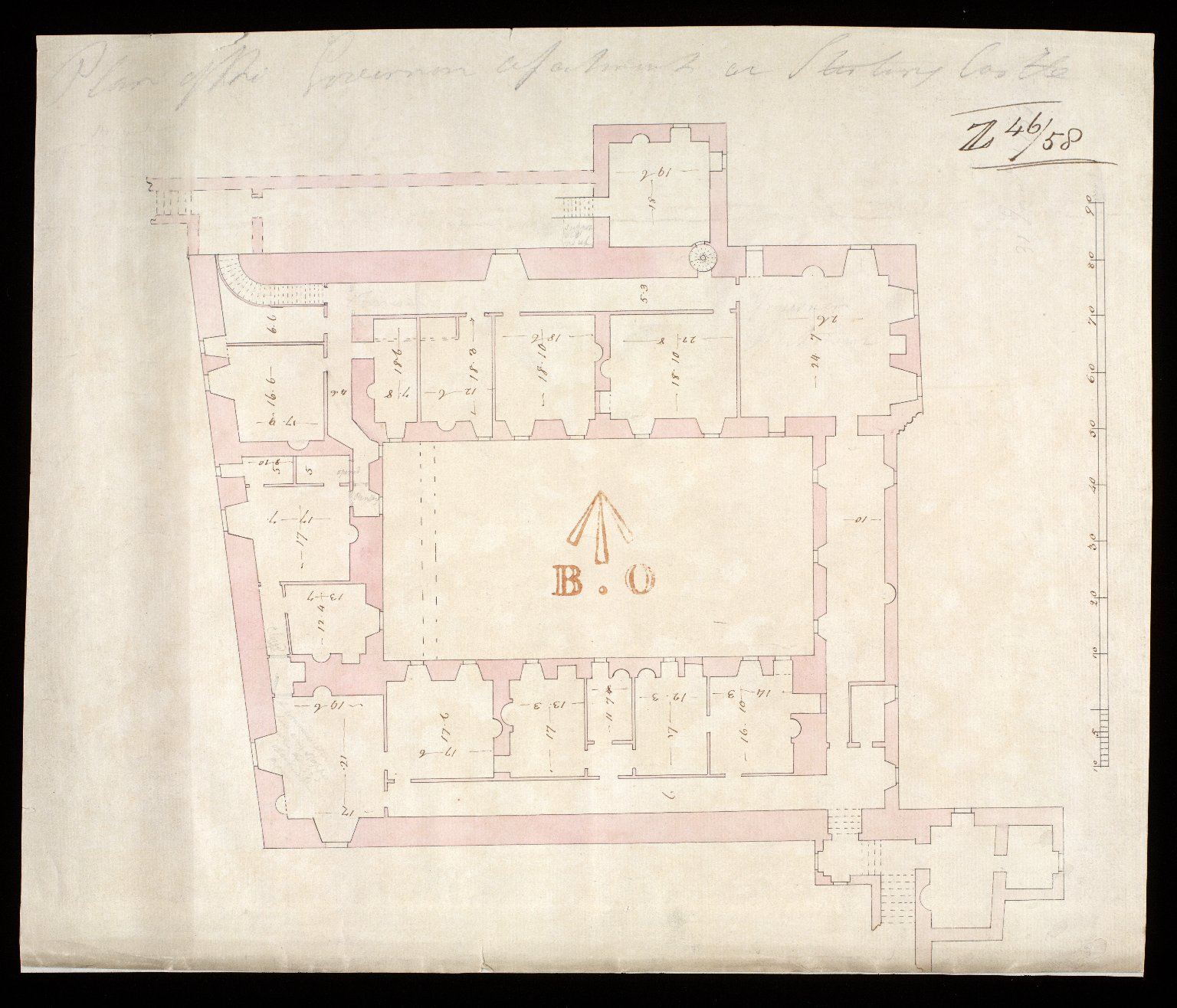 Plan of the Governor's appartments at Stirling Castle [1733?] [1 of 1]
