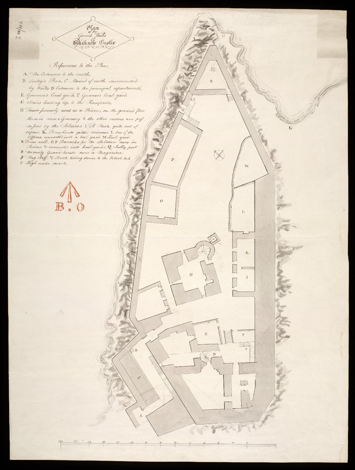 Plan of the ground walls of Blackness Castle. [1 of 1]