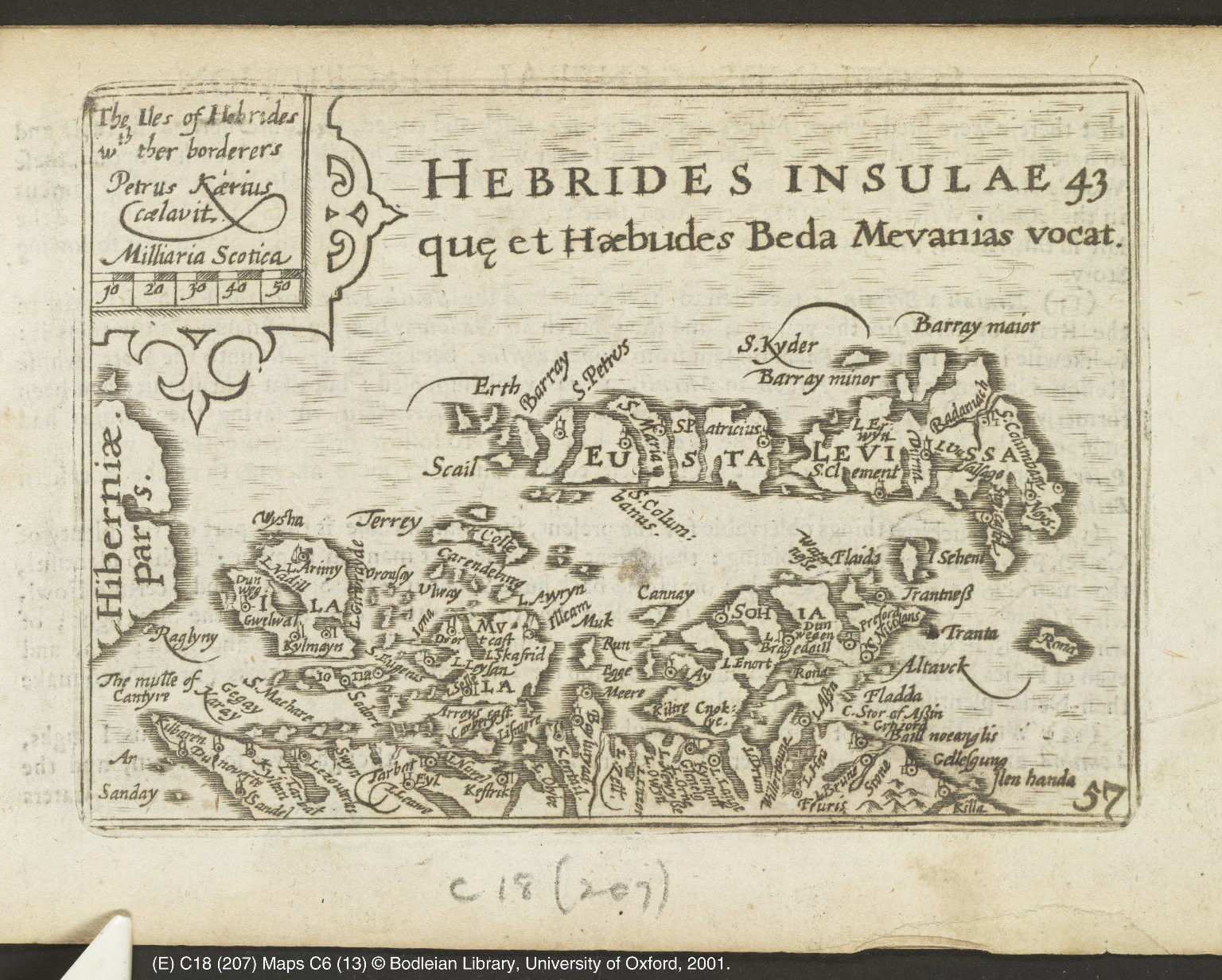 The Iles of Hebrides wth ther borderers [1 of 1]