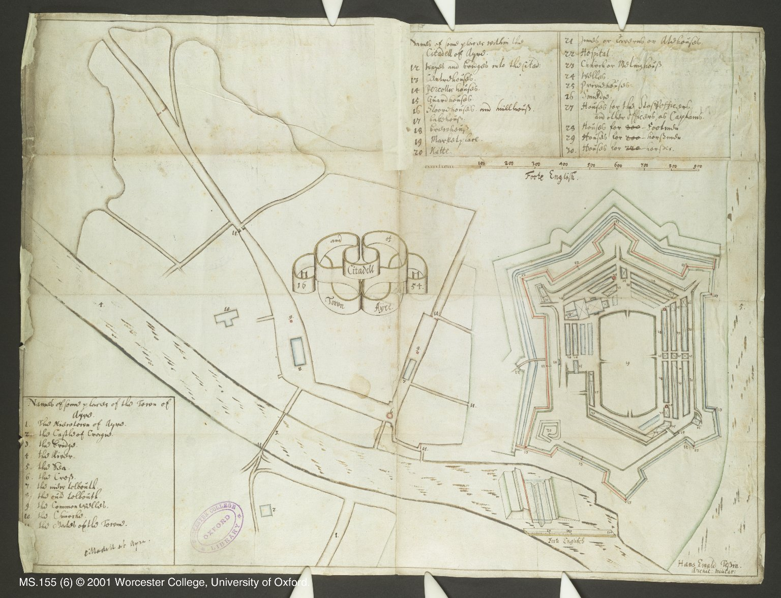 Town and Citadell of Ayre. 1654. [1 of 1]