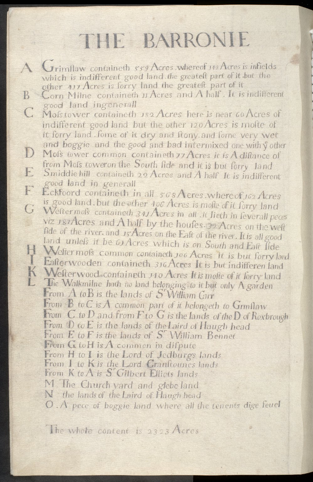 The Barronie of Eckford [1 of 2]