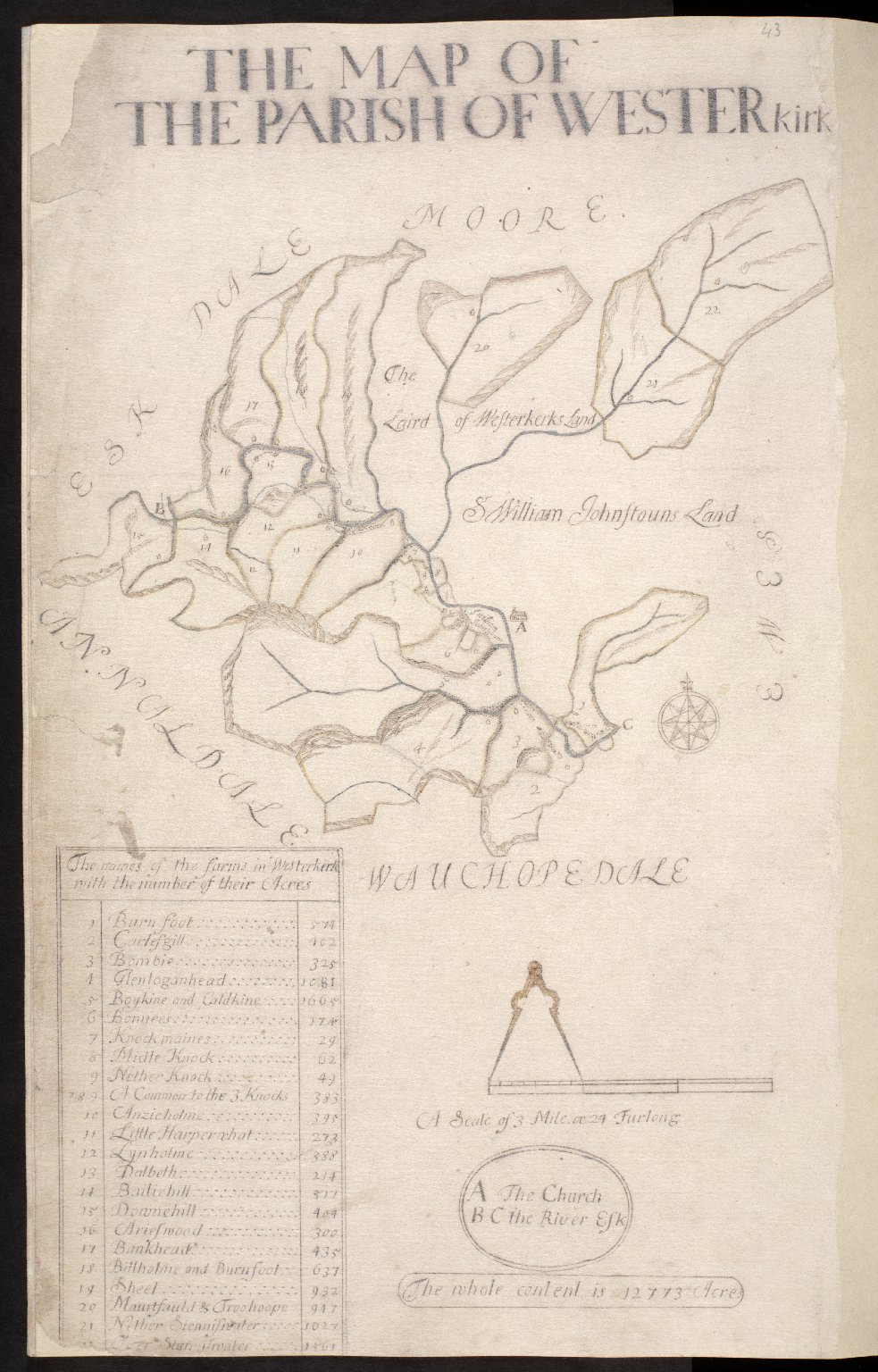 The Map of the Parish of Westerkirk [1 of 1]