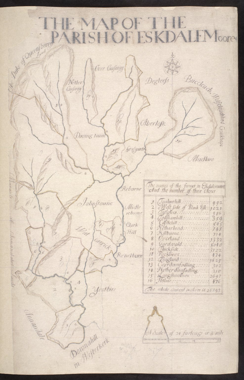 The Map of the Parish of Eskdalemoore [1 of 1]