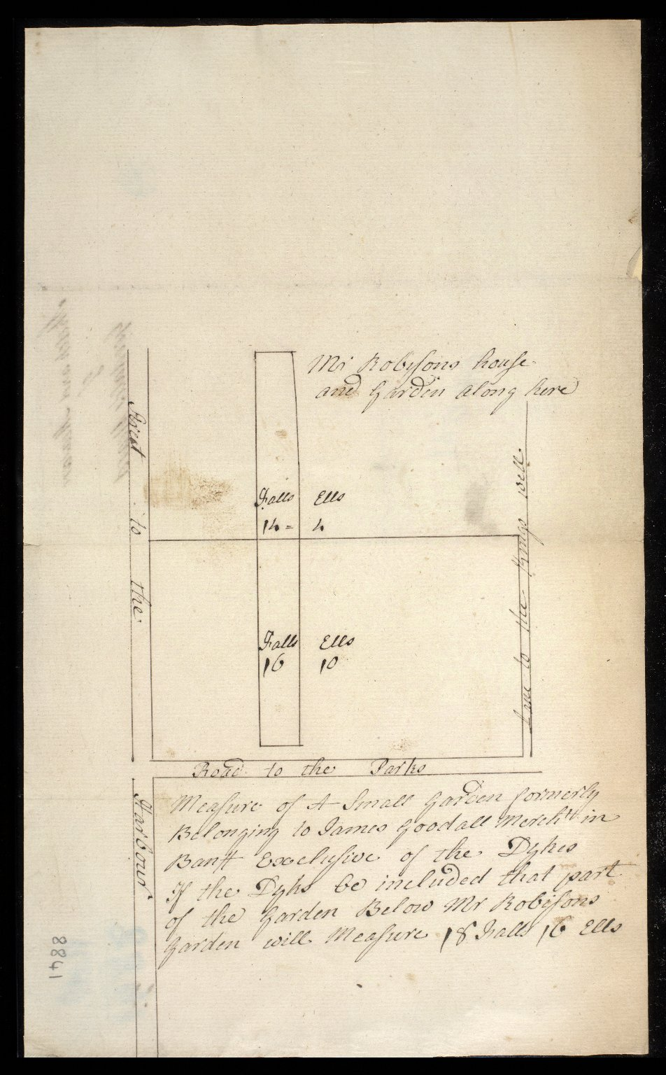 Sketch and Measure of Goodall's yard [1 of 1]