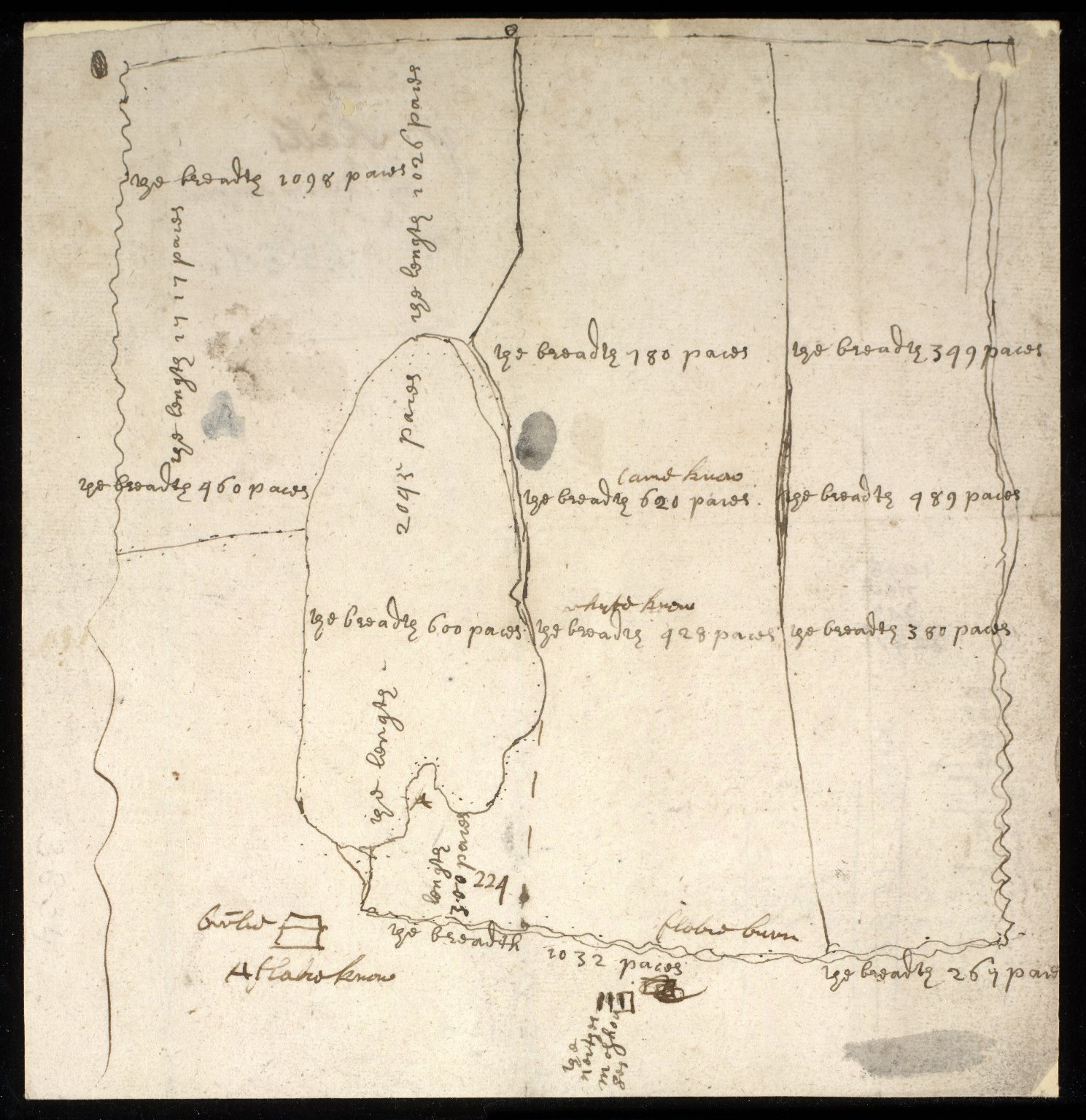 [Sketch plan of Halls Commonty, 1717] [1 of 1]