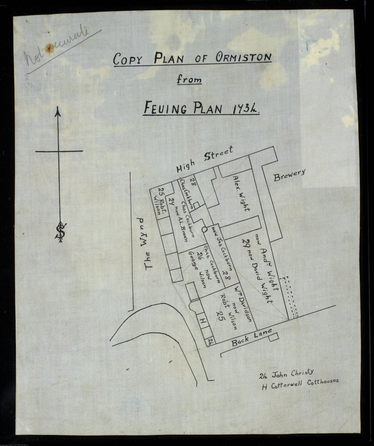 Copy Plan of Ormiston from Feuing Plan of 1734 [2 of 2]
