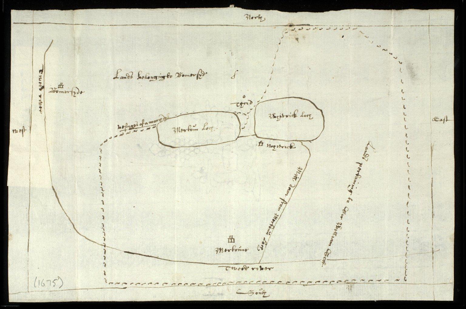 [Sketch plan of the lands of Mertoun, in the parish of Mertoun, Berwickshire] [1 of 1]