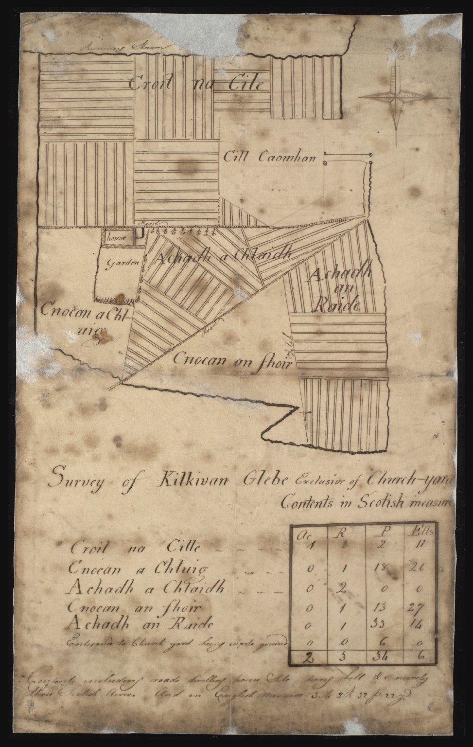 Survey of Kilkivan Glebe Exclusive of Church Yard [1 of 1]