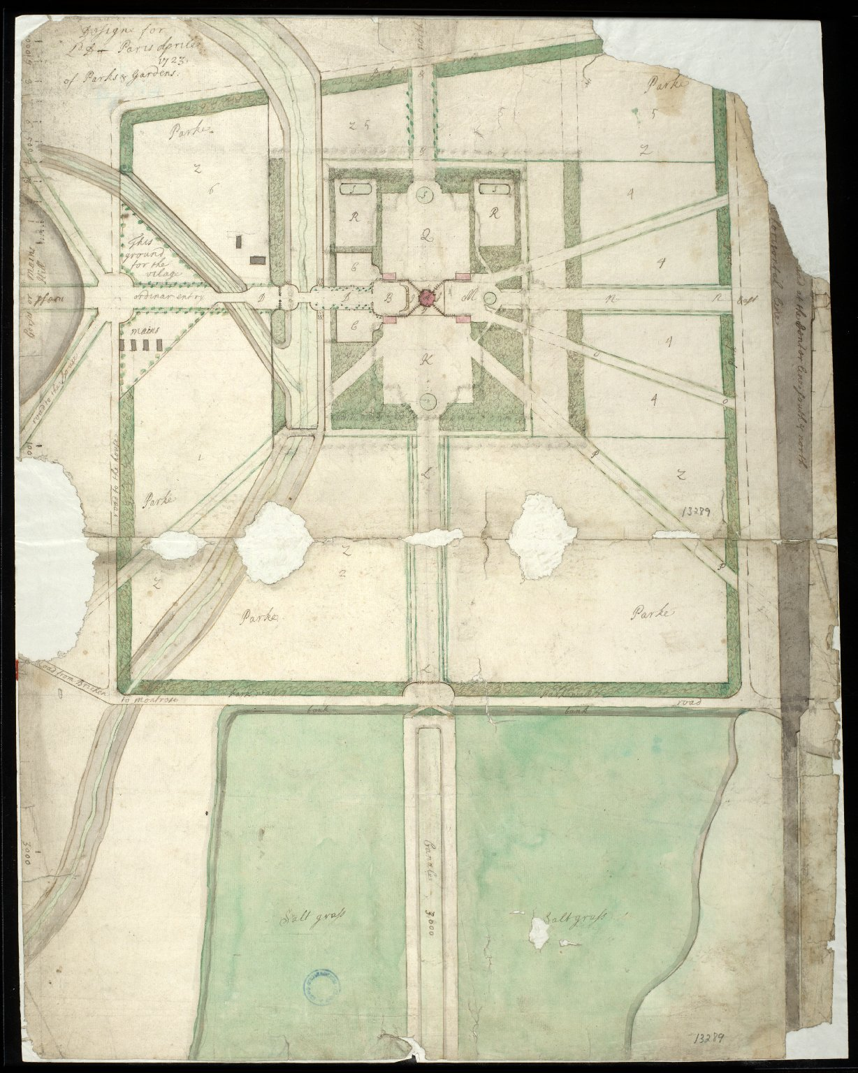 Designe for Ld D Paris Aprile 1723 of Parks & Gardens [1 of 1]