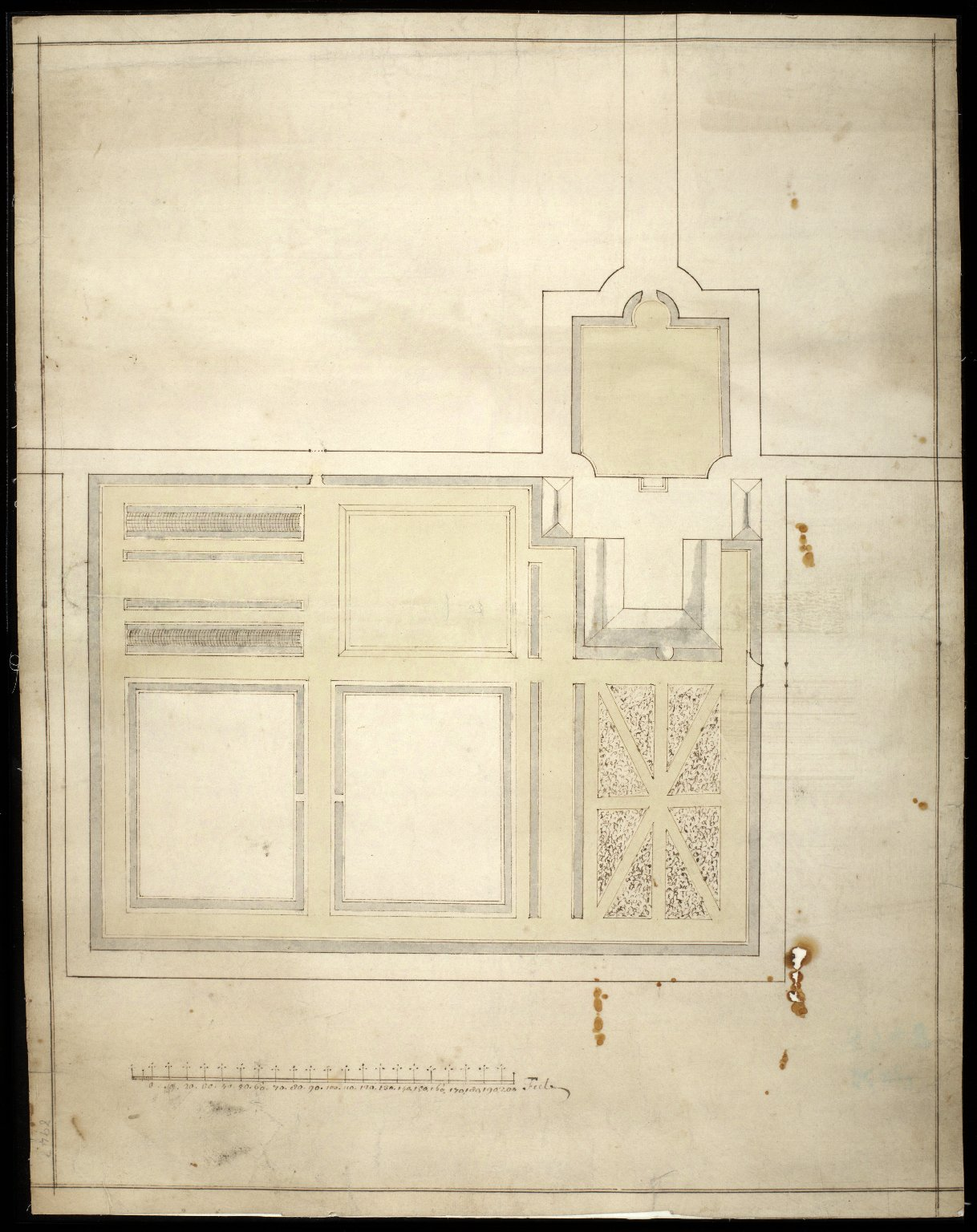 [Plan of the gardens at Castle Grant] [1 of 1]