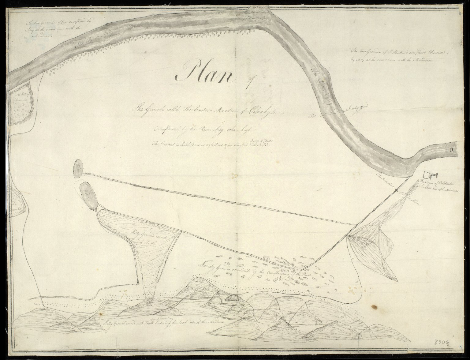 Plan of the Ground calld The Eastern Meadow of Culnakyle [1 of 1]