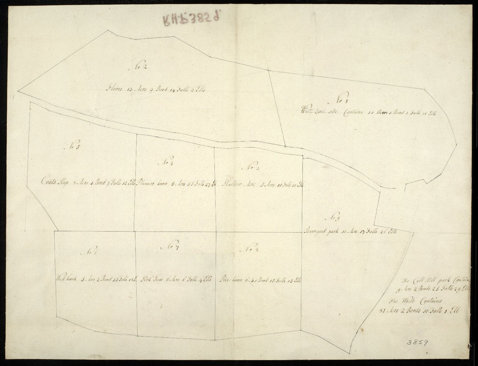 [Map of the Farm at Loanhead] [1 of 1]