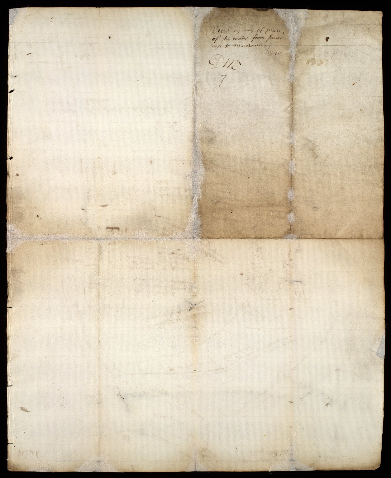 View by way of plan, of the roads from Inverness to Muirtown, 1743 [2 of 2]