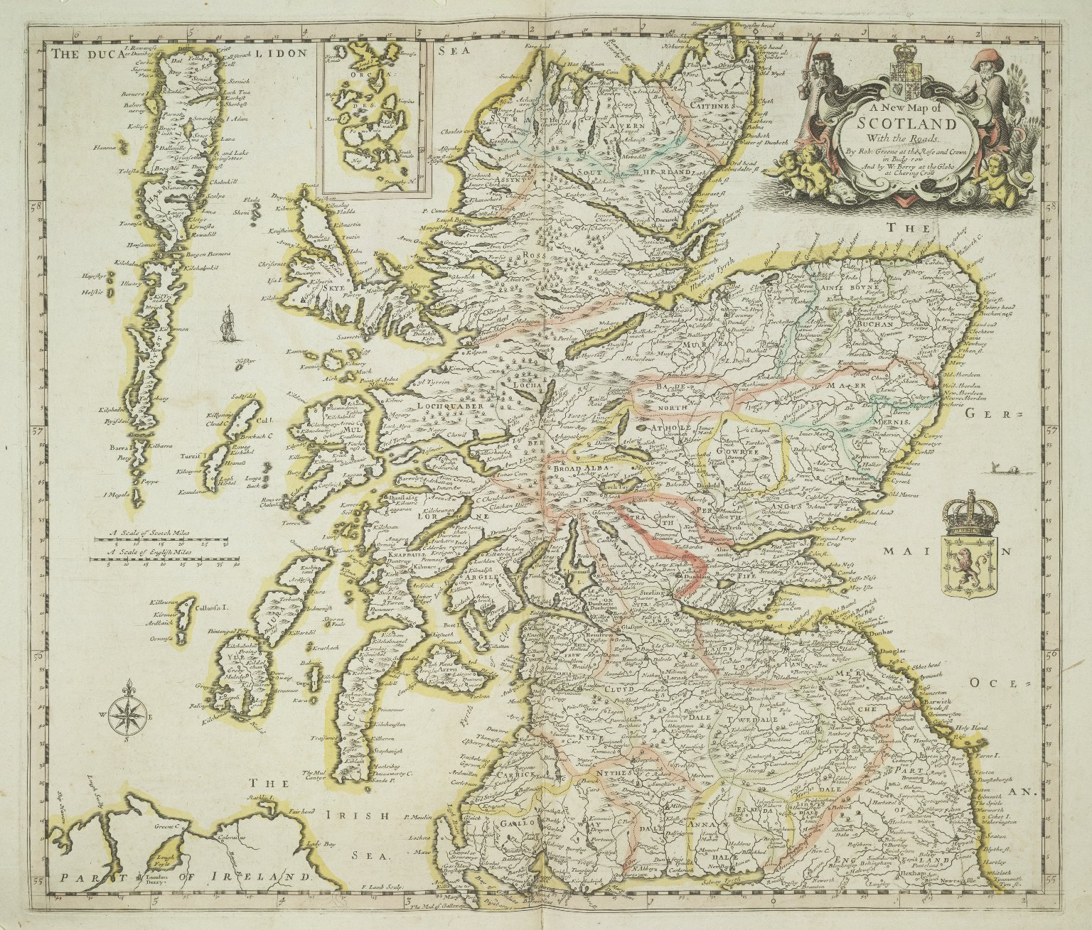 A New Map of SCOTLAND With the Roads. [1 of 1]