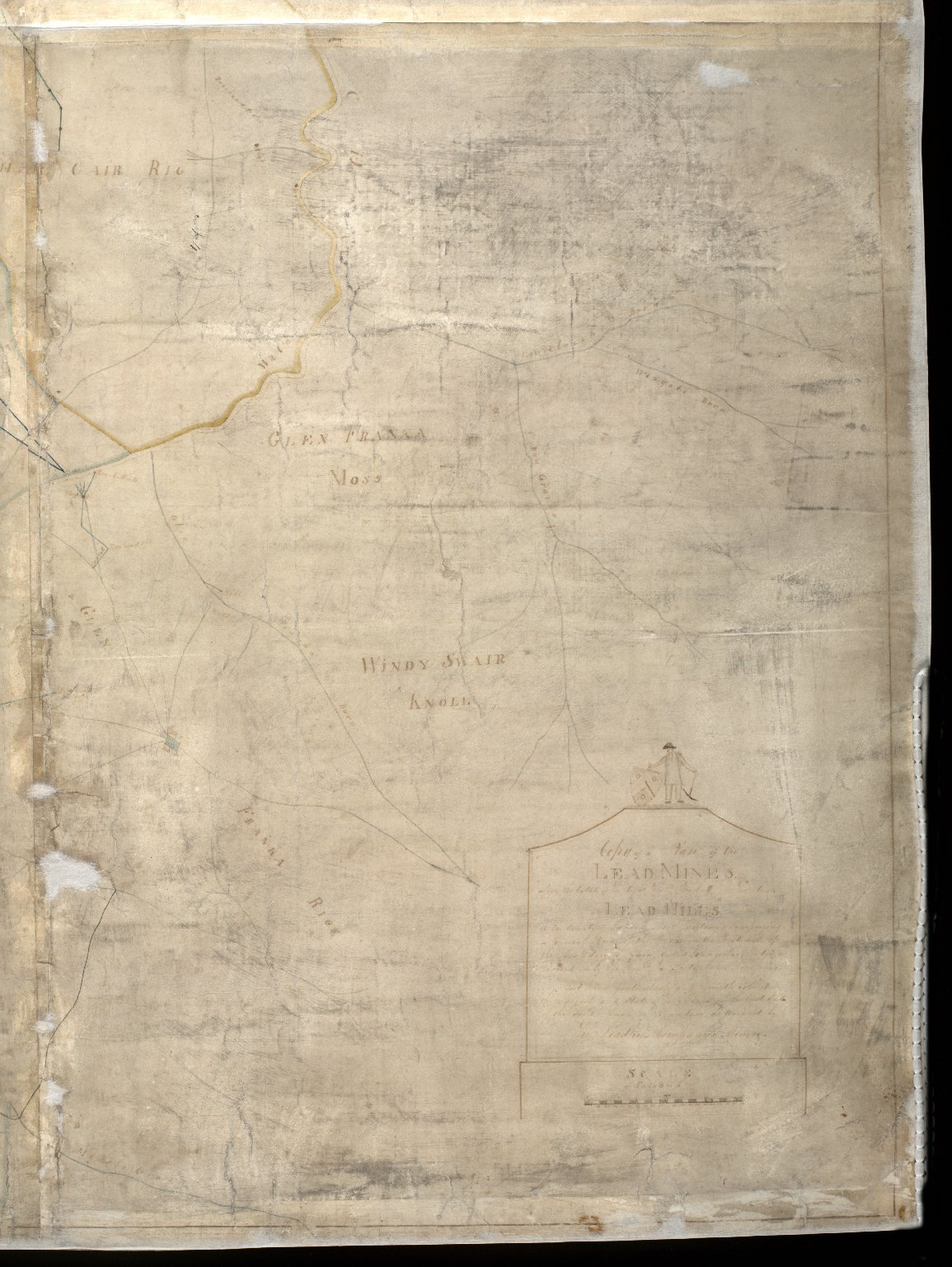 Copy of a Map of the Lead Mines [?] the Estate of the Right Honble the Earl of Hopetoun Leadhills in the county of Lanark [2 of 4]
