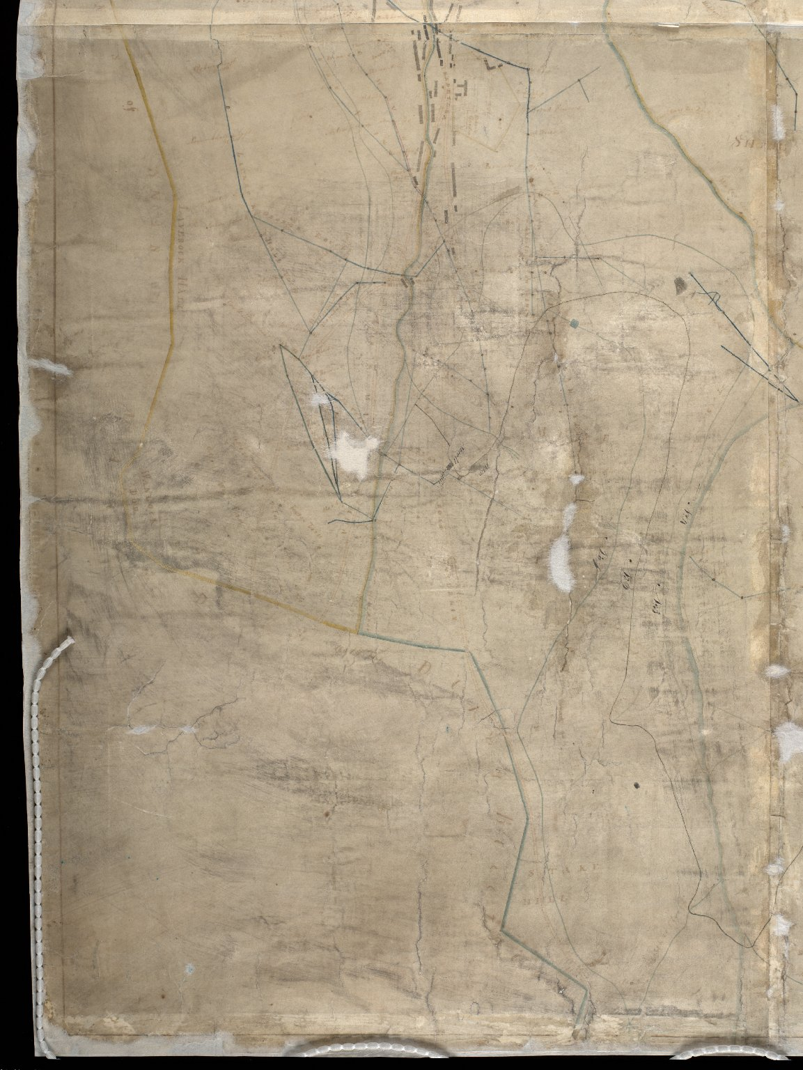 Copy of a Map of the Lead Mines [?] the Estate of the Right Honble the Earl of Hopetoun Leadhills in the county of Lanark [3 of 4]
