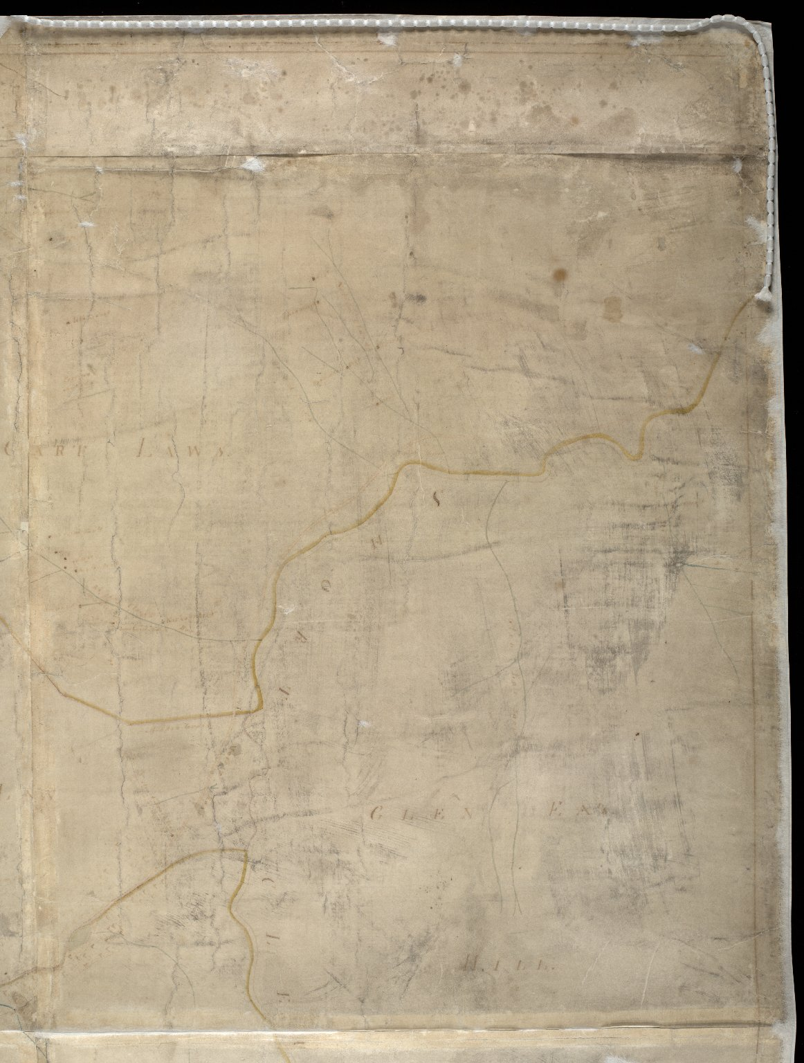 Copy of a Map of the Lead Mines [?] the Estate of the Right Honble the Earl of Hopetoun Leadhills in the county of Lanark [1 of 4]