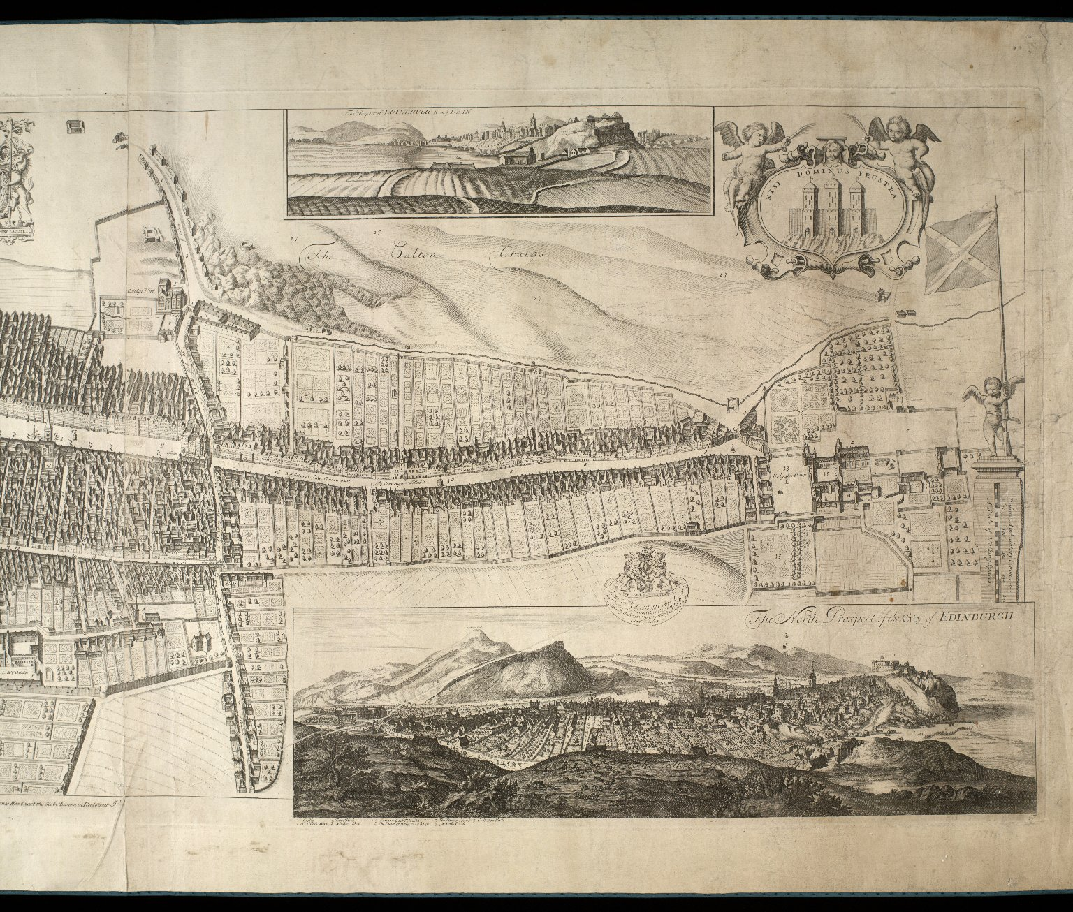 The Plan of Edenburgh Exactly done From the Original of ye famous D. Witt [2 of 2]