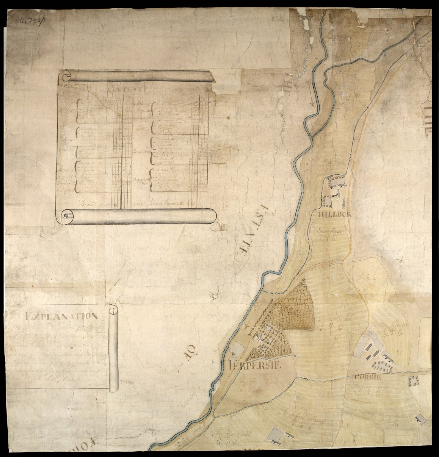 Plan of Estate Terpersie Belonging to James Gordon of Moorplace [1 of 4]