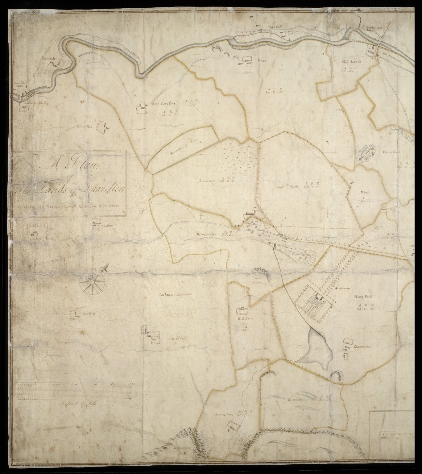 A Plan of the Lands of Quarelton [1 of 2]