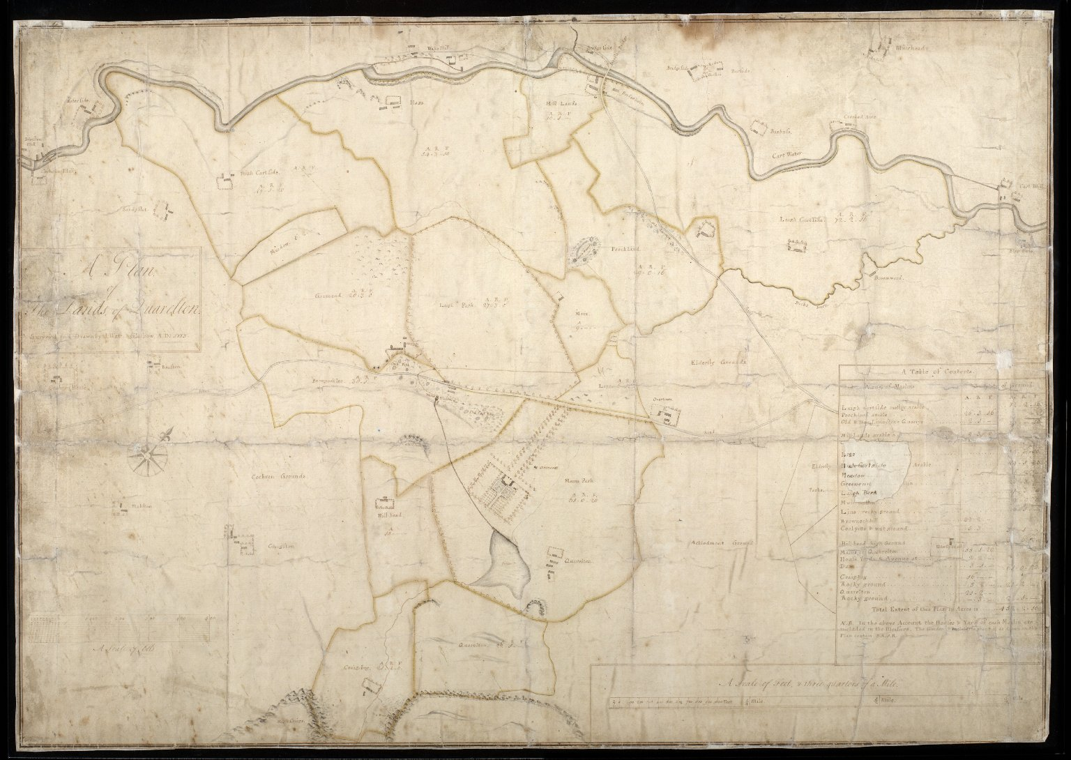 A Plan of the Lands of Quarelton [1 of 1]