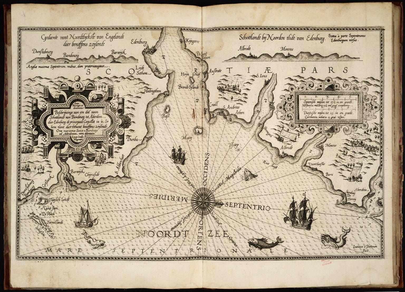 Beschrijvinge van een deel vann Schottlandt van Bambourg tot Aberdein daer Edenburg de princepaele Coepstat in is, So hem tlant daer vtboont beneffens zeijlende = Orae maritimae Scotiae a Bamburgo ad Aberdinum [1 of 1]