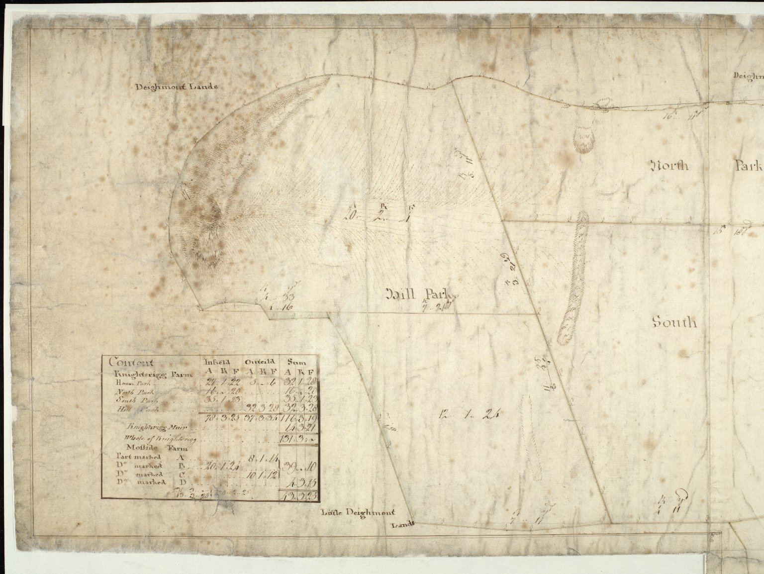 A Plan of the Farms of Knightsrigg and Mosside [1 of 3]