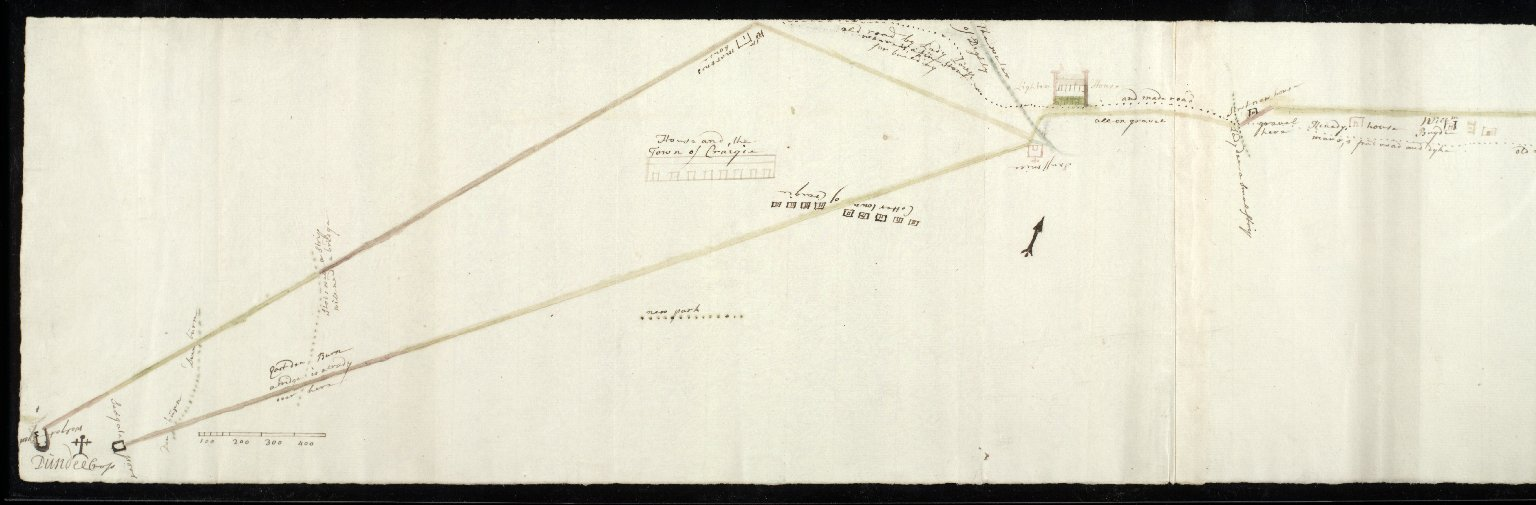 [Plan of present road and proposed road from Dundee market cross to Pitkerro House] [2 of 2]