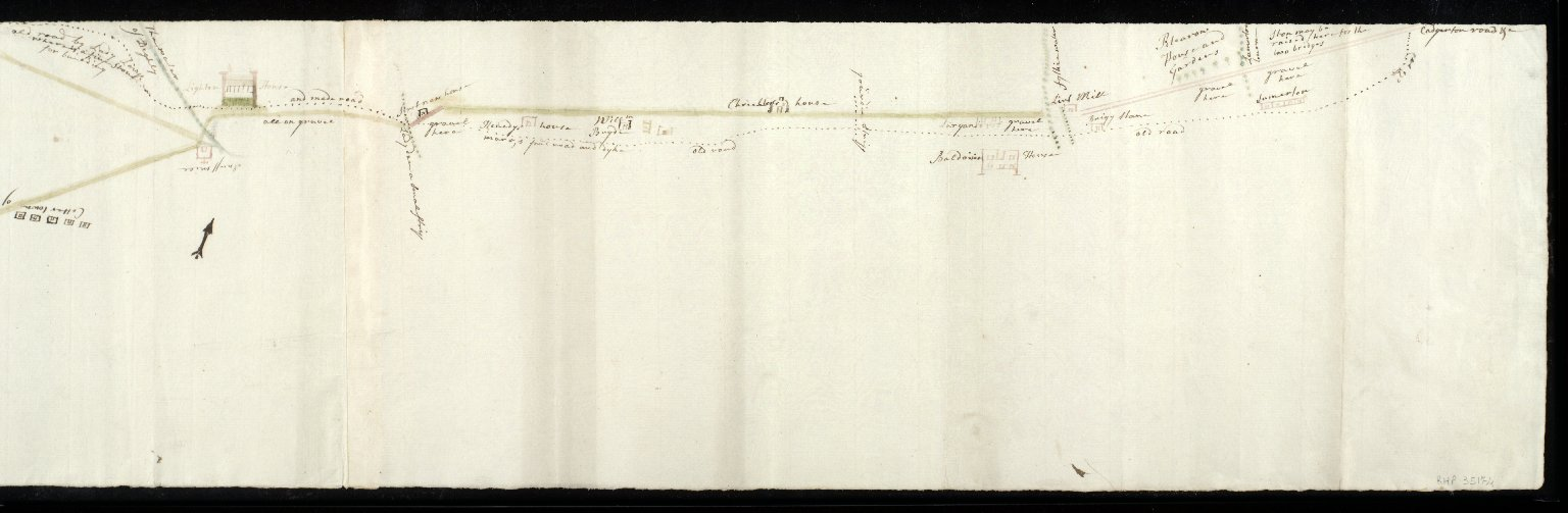 [Plan of present road and proposed road from Dundee market cross to Pitkerro House] [1 of 2]