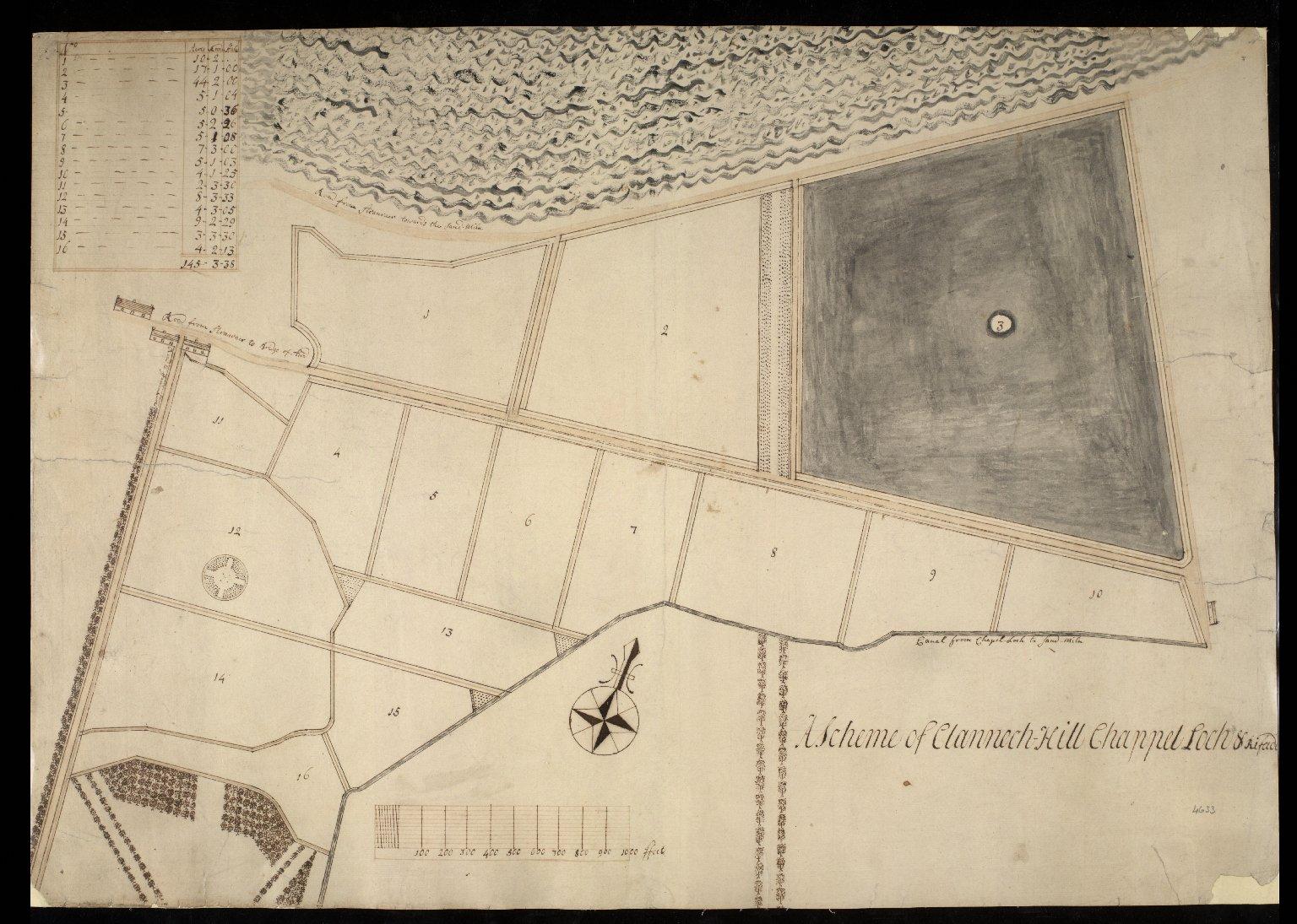 A Scheme of Clannech Hill Chappel Loch & Rifade [1 of 1]