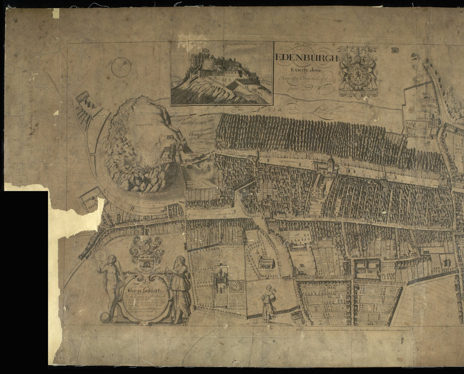 The Plan of Edenburgh Exactly done From the Original of ye famous D. Witt [1 of 2]