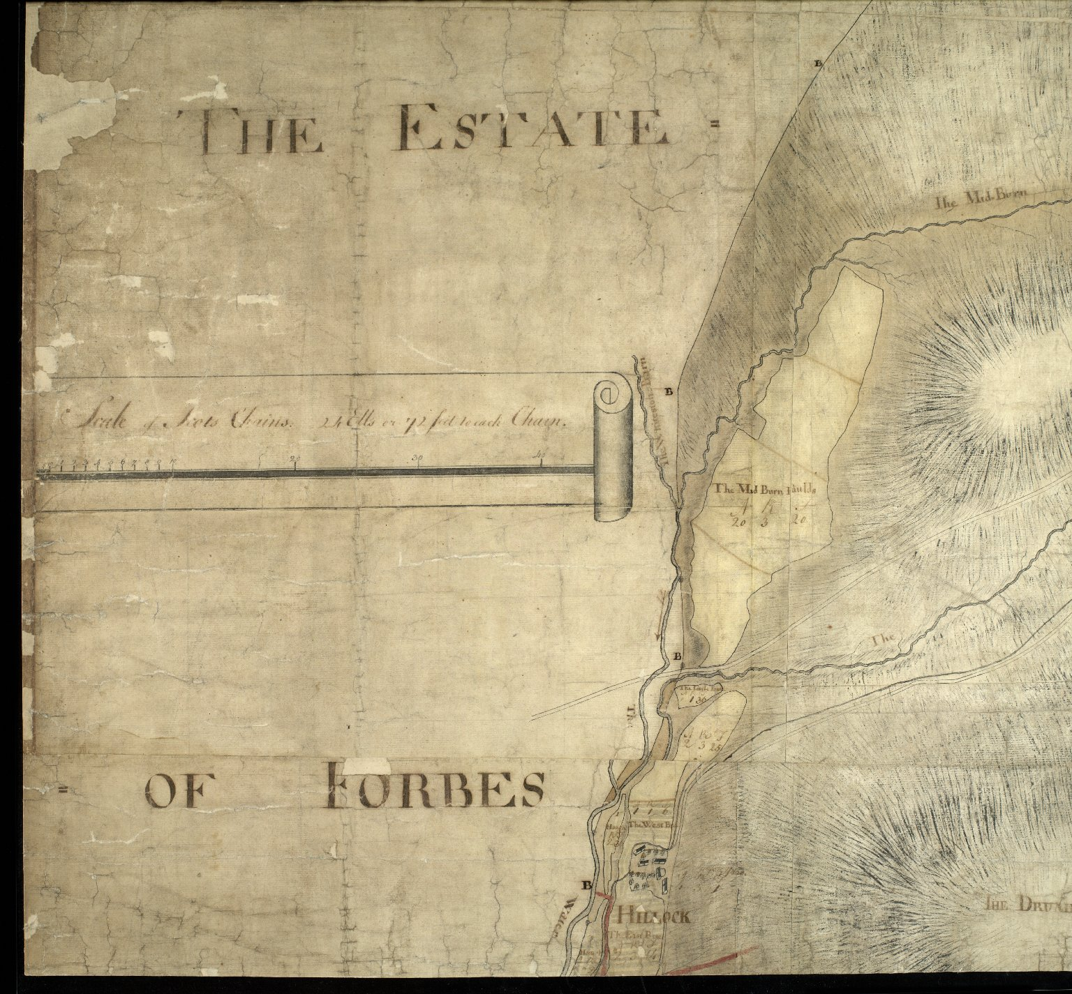 Plan of the Estates belongin to James Gordon of Moorplace Esqr. lying in the County of Aberdeen [3 of 9]