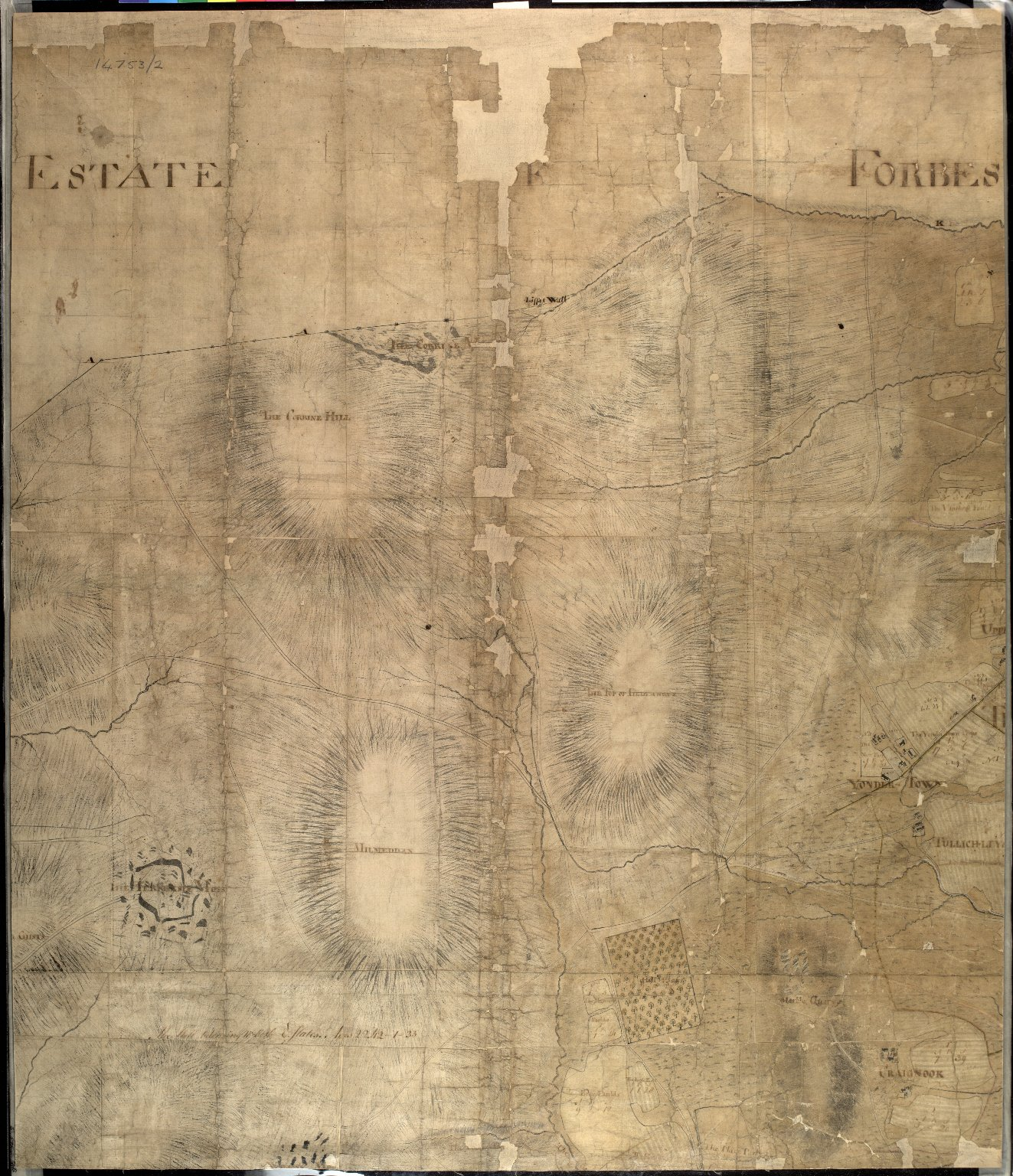 Plan of the Estates belongin to James Gordon of Moorplace Esqr. lying in the County of Aberdeen [5 of 9]