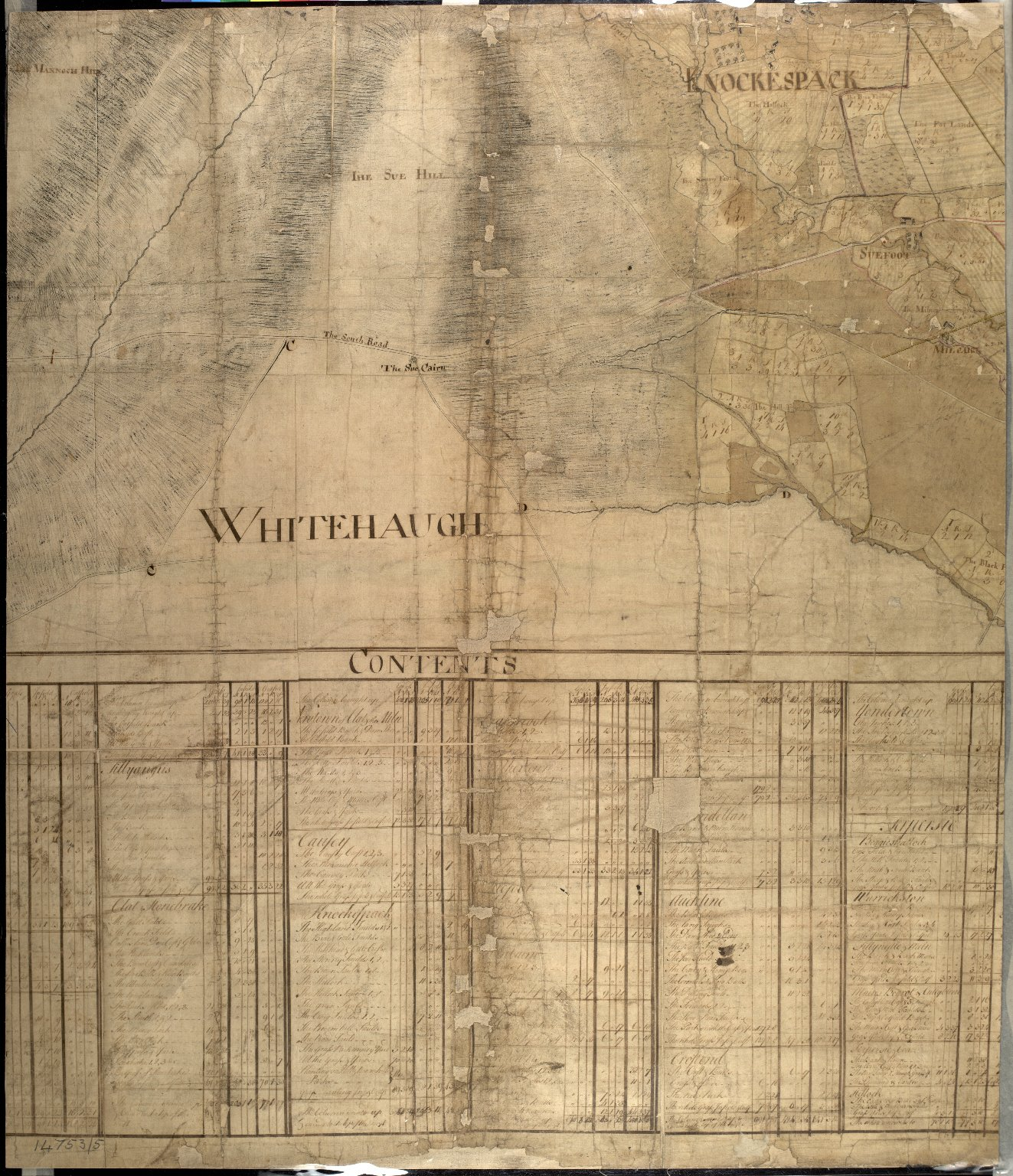 Plan of the Estates belongin to James Gordon of Moorplace Esqr. lying in the County of Aberdeen [8 of 9]