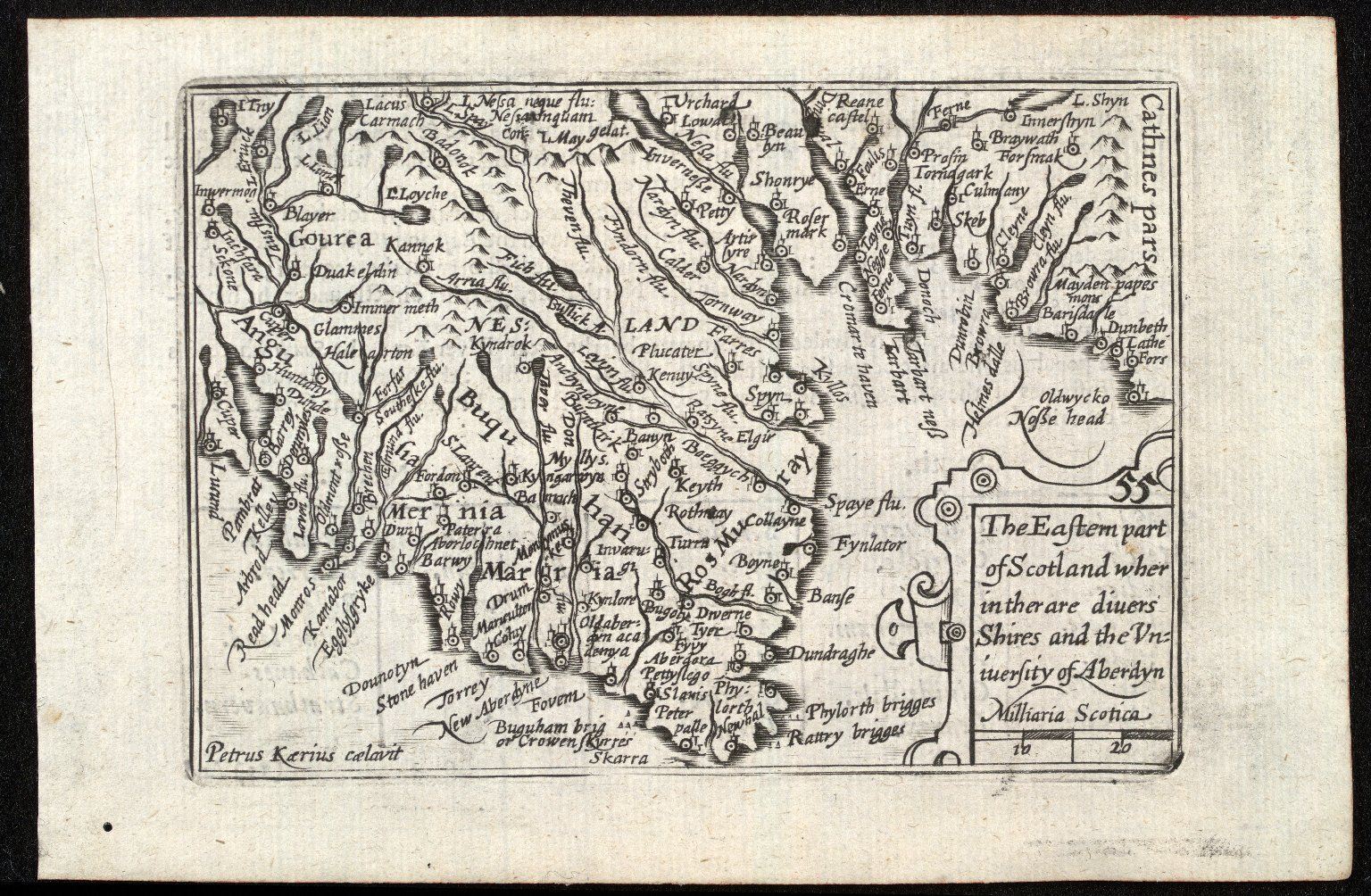 The Eastern part of Scotland wher in ther are divers Shires and the University of Aberdyn [1 of 1]
