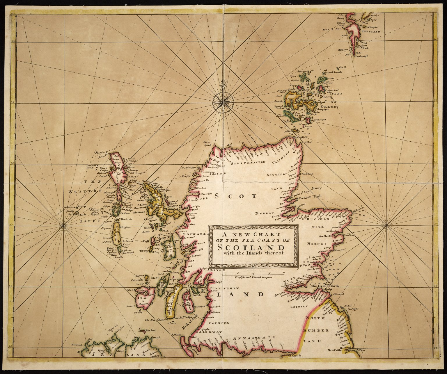 NEW CHART OF THE SEA COAST OF SCOTLAND with the islands thereof [1 of 1]