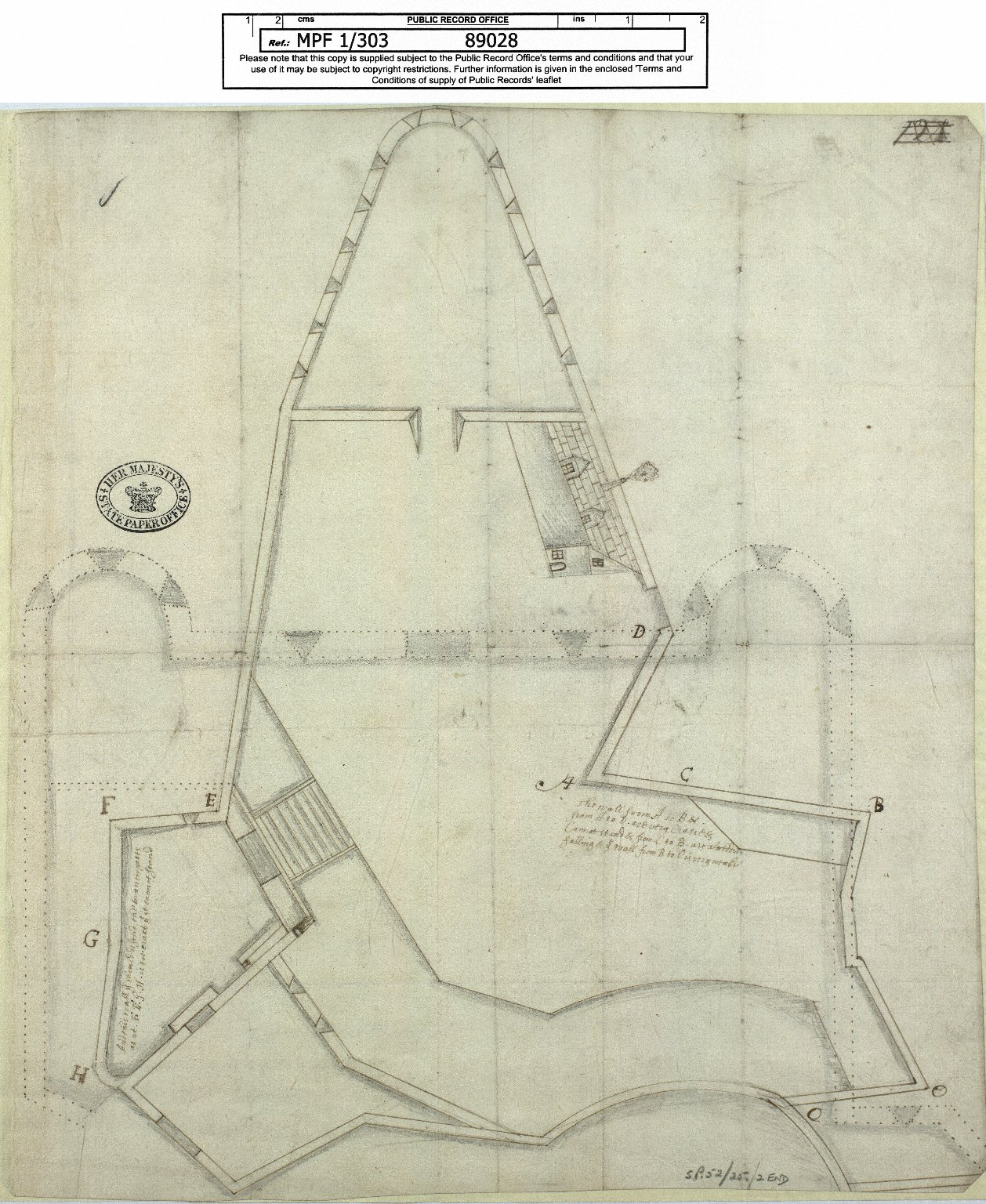 [Plan of the state of Edinburgh Town Walls] [1 of 1]