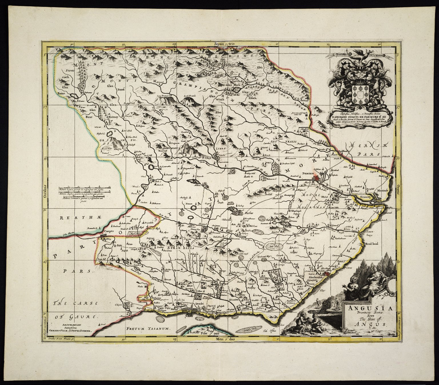 ANGUSIA Provincia Scotiae sive The Shire of ANGUS [1 of 1]
