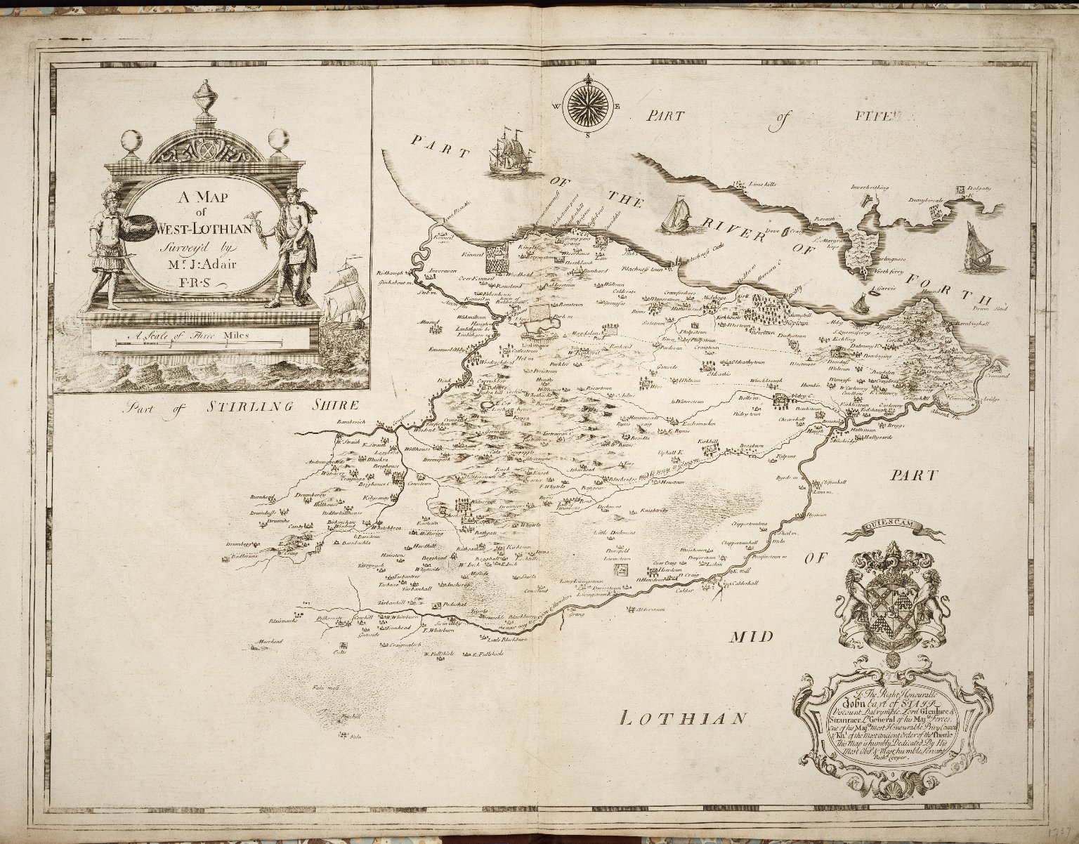 A MAP of WEST-LOTHIAN [1 of 1]