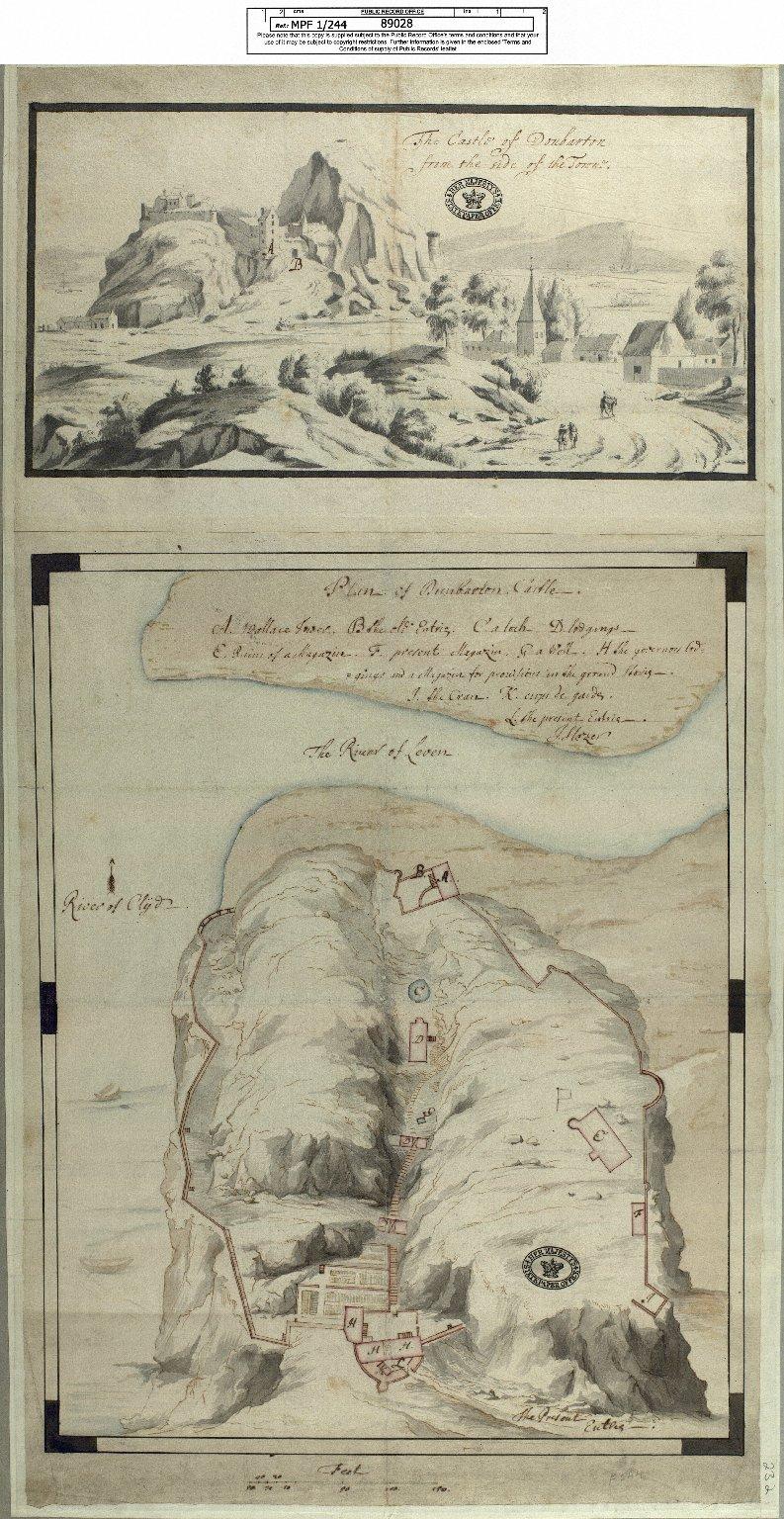 Plan of Dunbarton Castle [1 of 1]