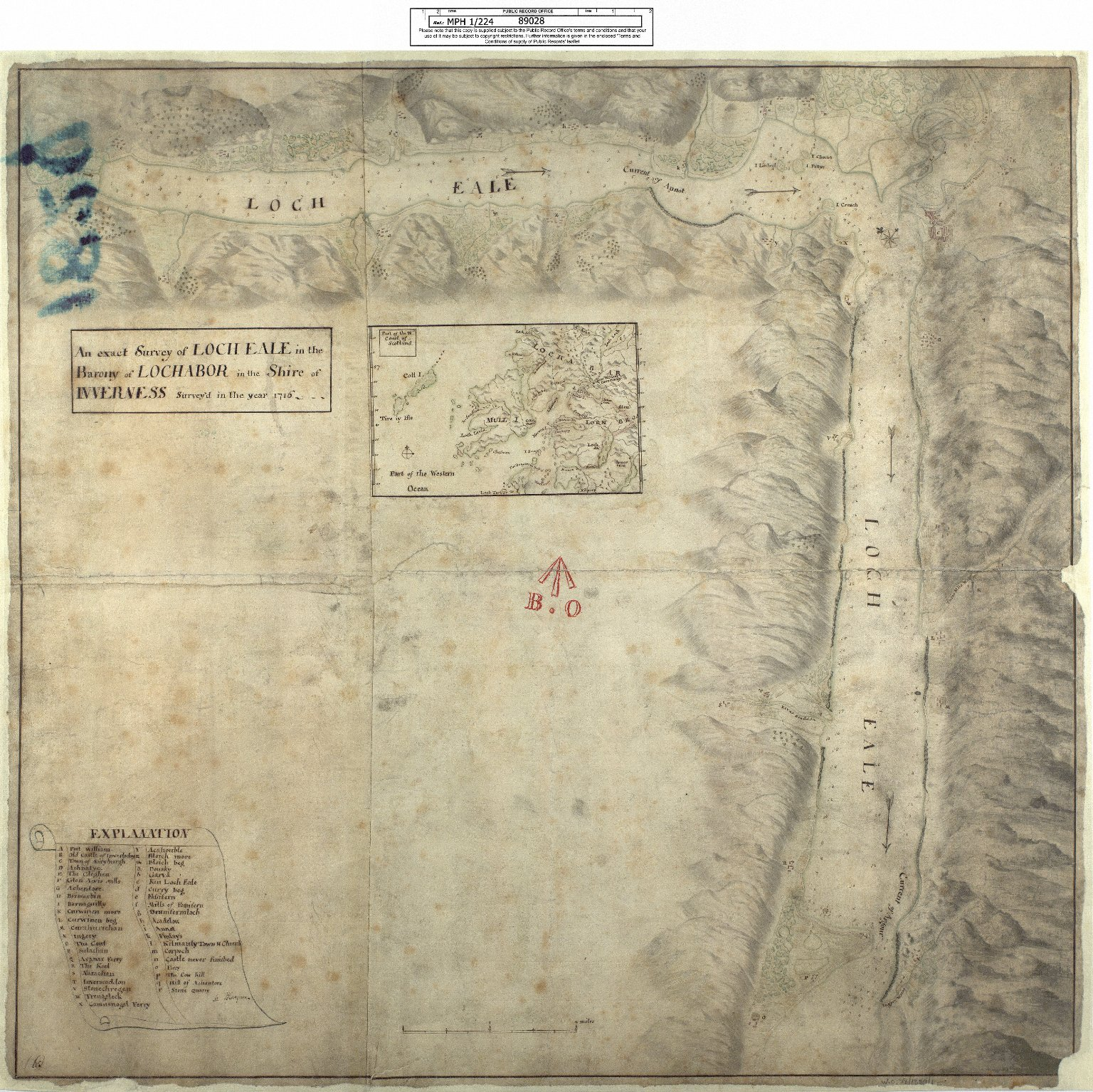 An exact Survey of Loch Eale in the Barony of Lochabor in the Shire of Inverness Survey'd in the year 1716 [1 of 1]